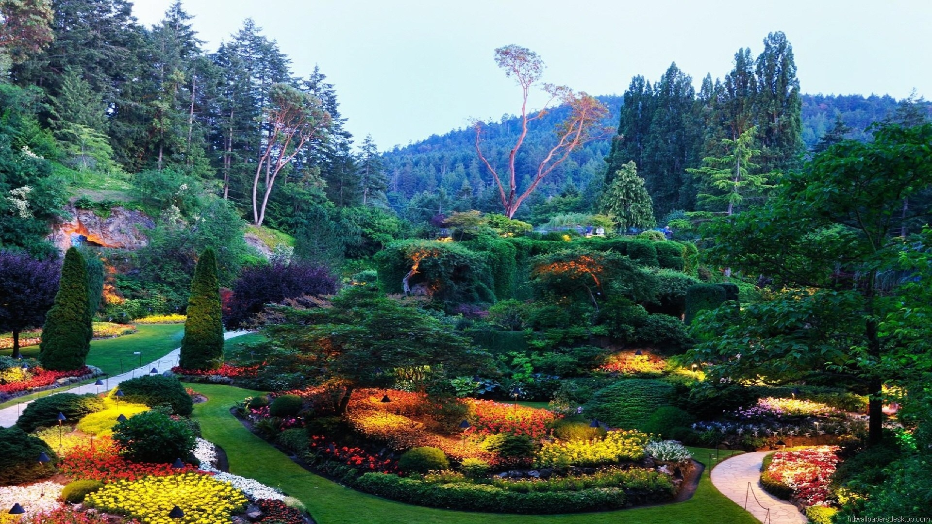 Most Beautiful Places In The World Hd [1920 1080] Via - Butchart Gardens , HD Wallpaper & Backgrounds