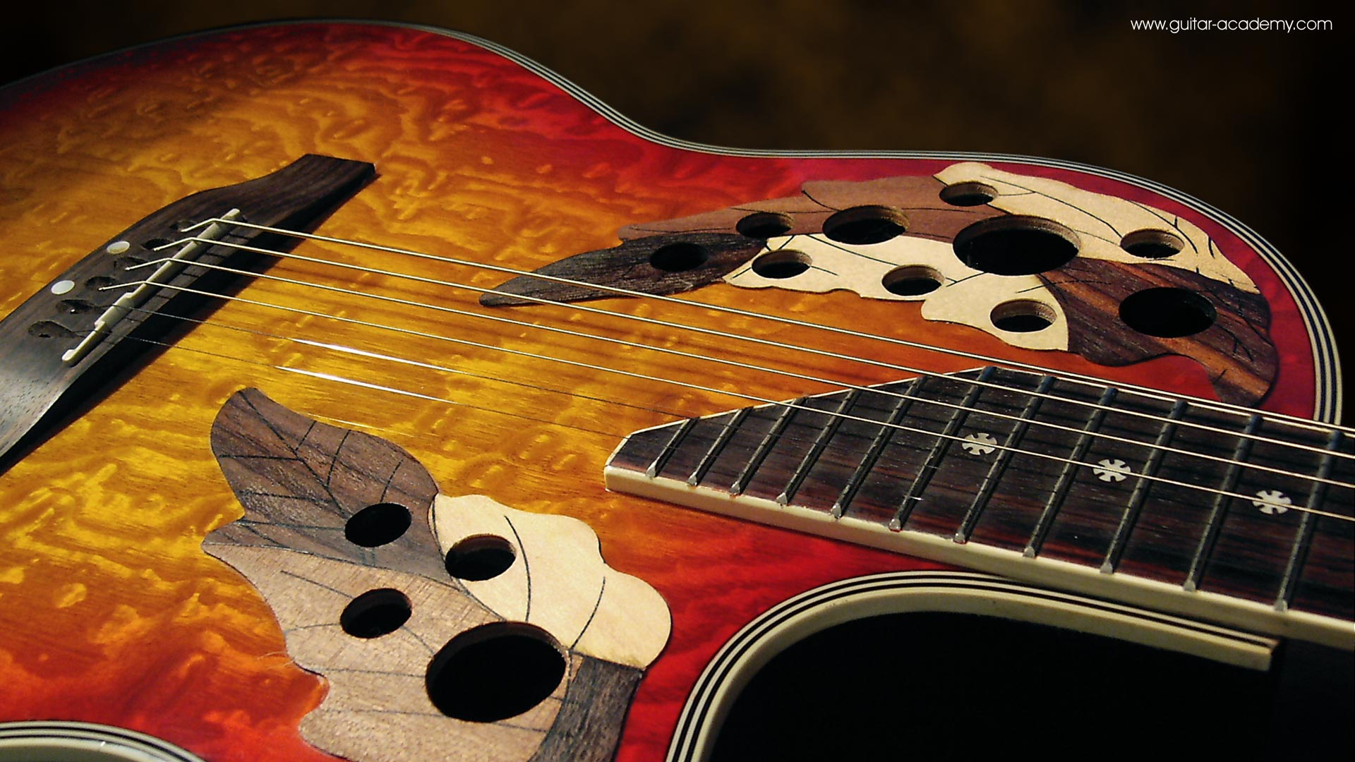 Acoustic Guitar Wallpapers Hd Full - Ovation Guitar 壁紙 , HD Wallpaper & Backgrounds