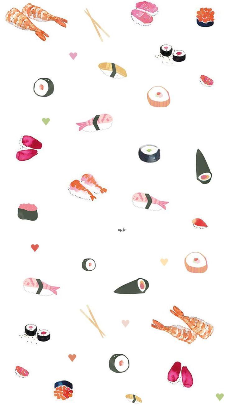 Cute Iphone Wallpapers Tumblr Sushi Wallpaper Cute 296735