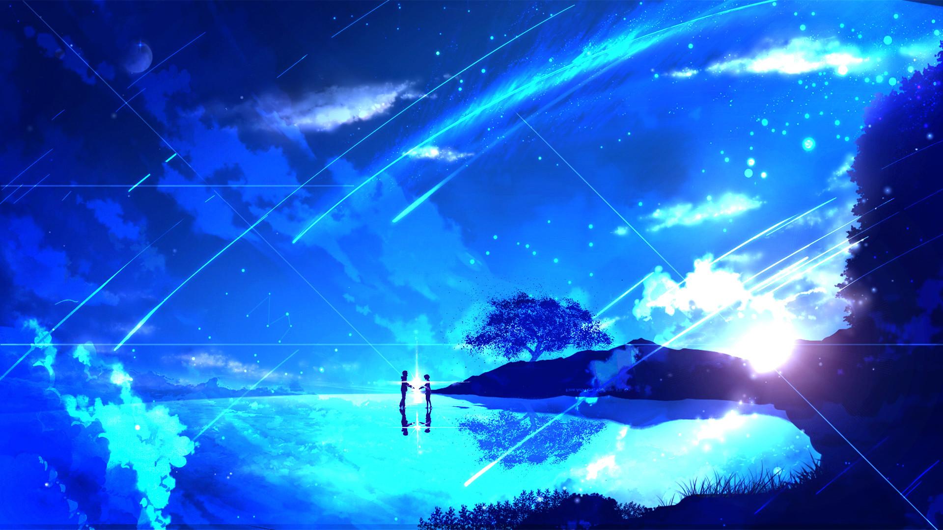Wallpaper Couple Anime Girl Night Kimi No Na Wa Fondos De