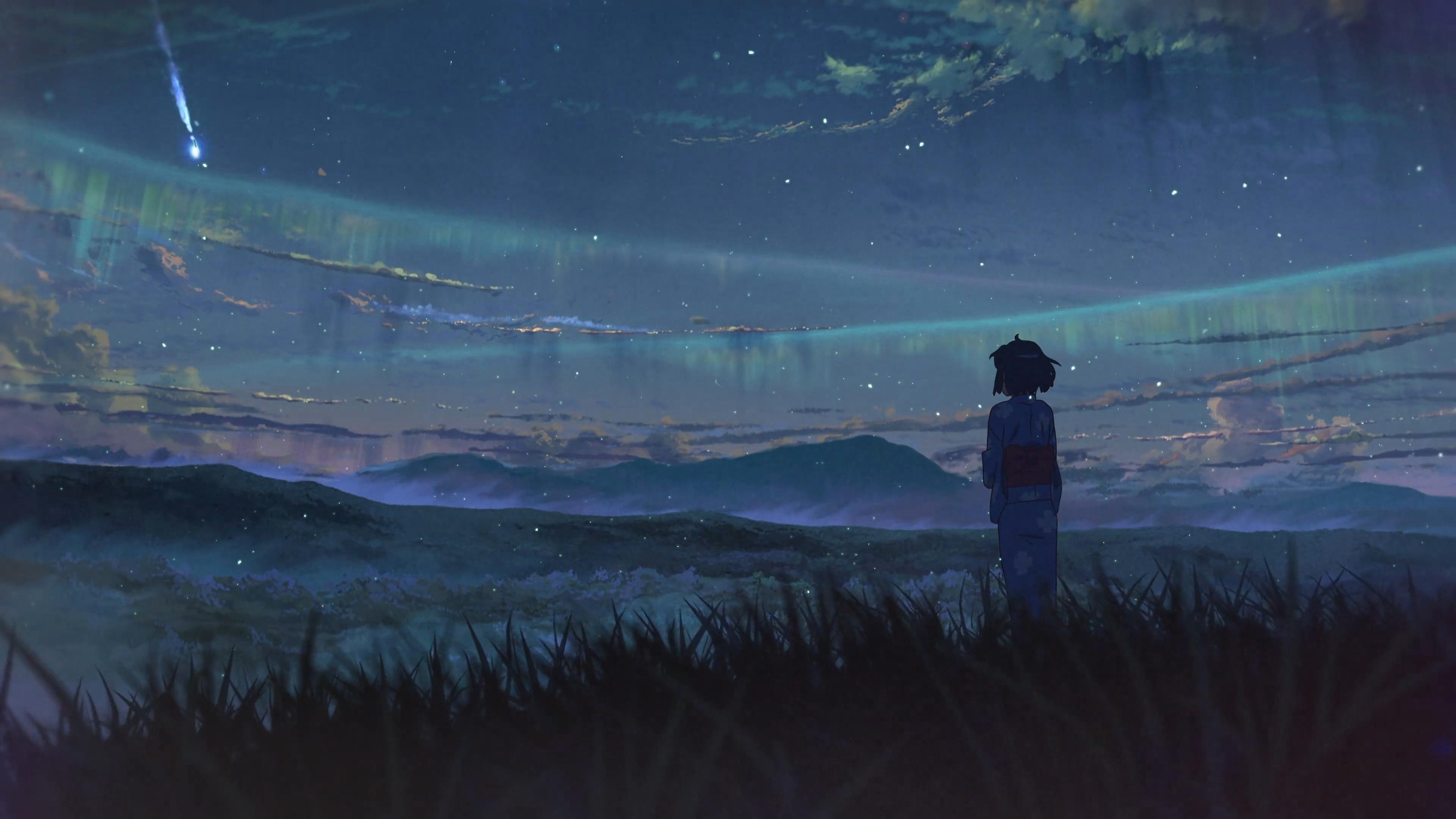 Makoto Shinkai Kimi No Na Wa Wallpaper аниме гиф космос