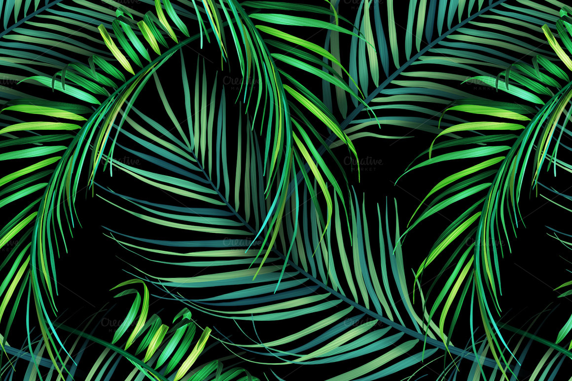 Jungle Palm Leaves Tropical Pattern Patterns On Creative Palm Leaves Wallpaper Hd 2903639 Hd Wallpaper Backgrounds Download These are easily removable wallpapers which can be easily attached to the walls without applying any extra glue. jungle palm leaves tropical pattern