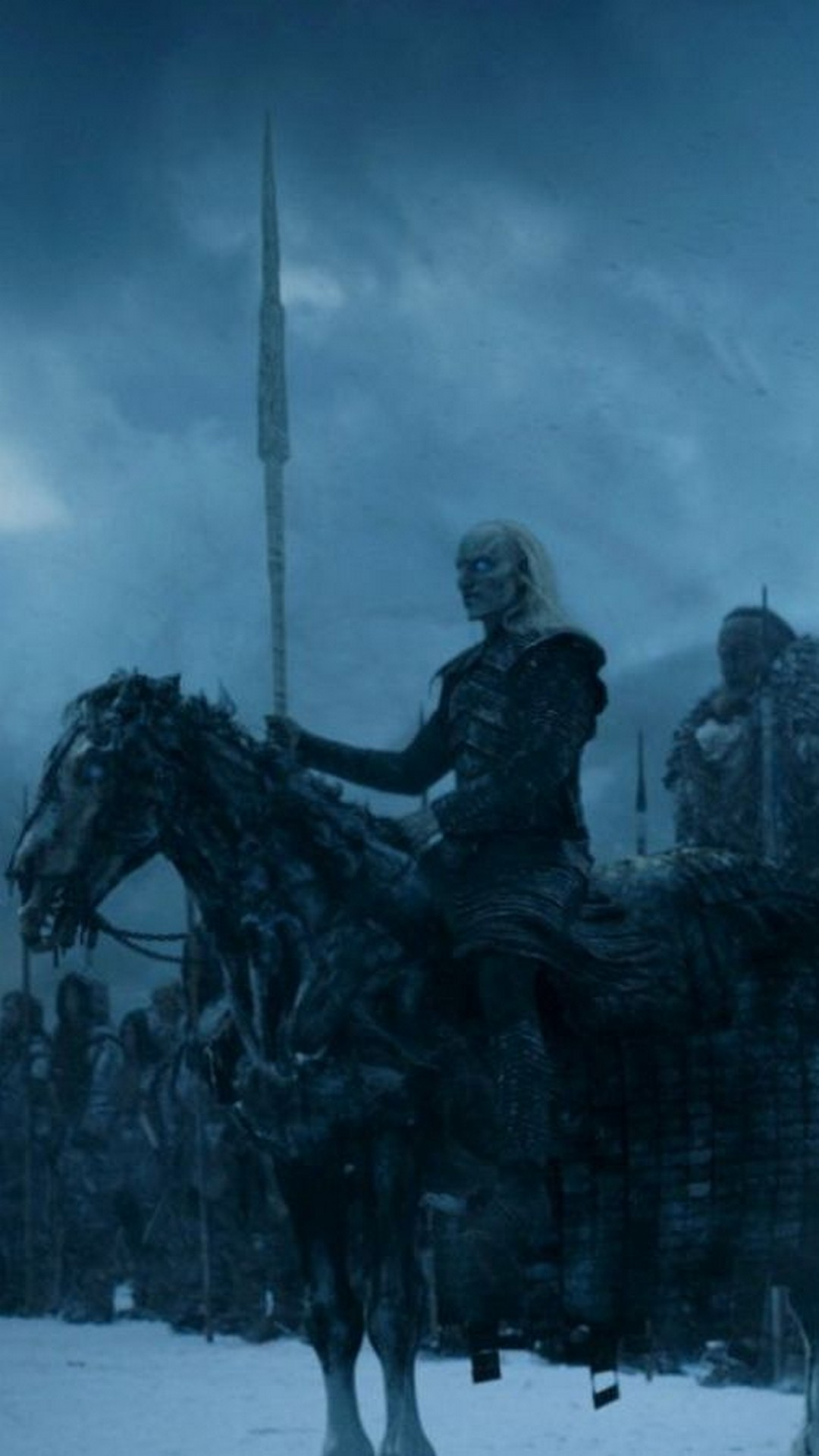 Wallpaper Game Of Thrones 8 Season Android With High-resolution - Game Of Thrones White Walker On Horse , HD Wallpaper & Backgrounds