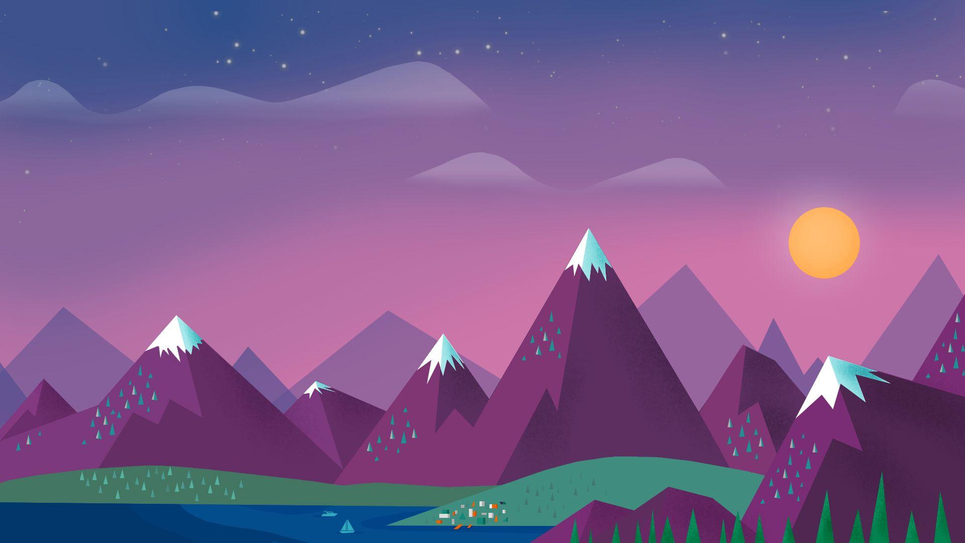 Minimalist Nature Background , HD Wallpaper & Backgrounds