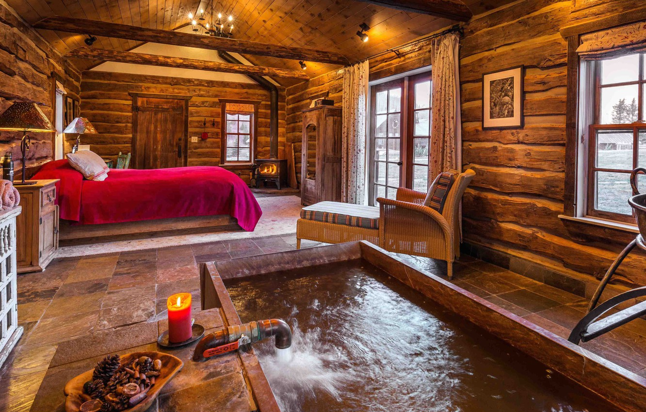 Photo Wallpaper Interior, Mixing Vintage And Modern - Dunton Hot Springs , HD Wallpaper & Backgrounds