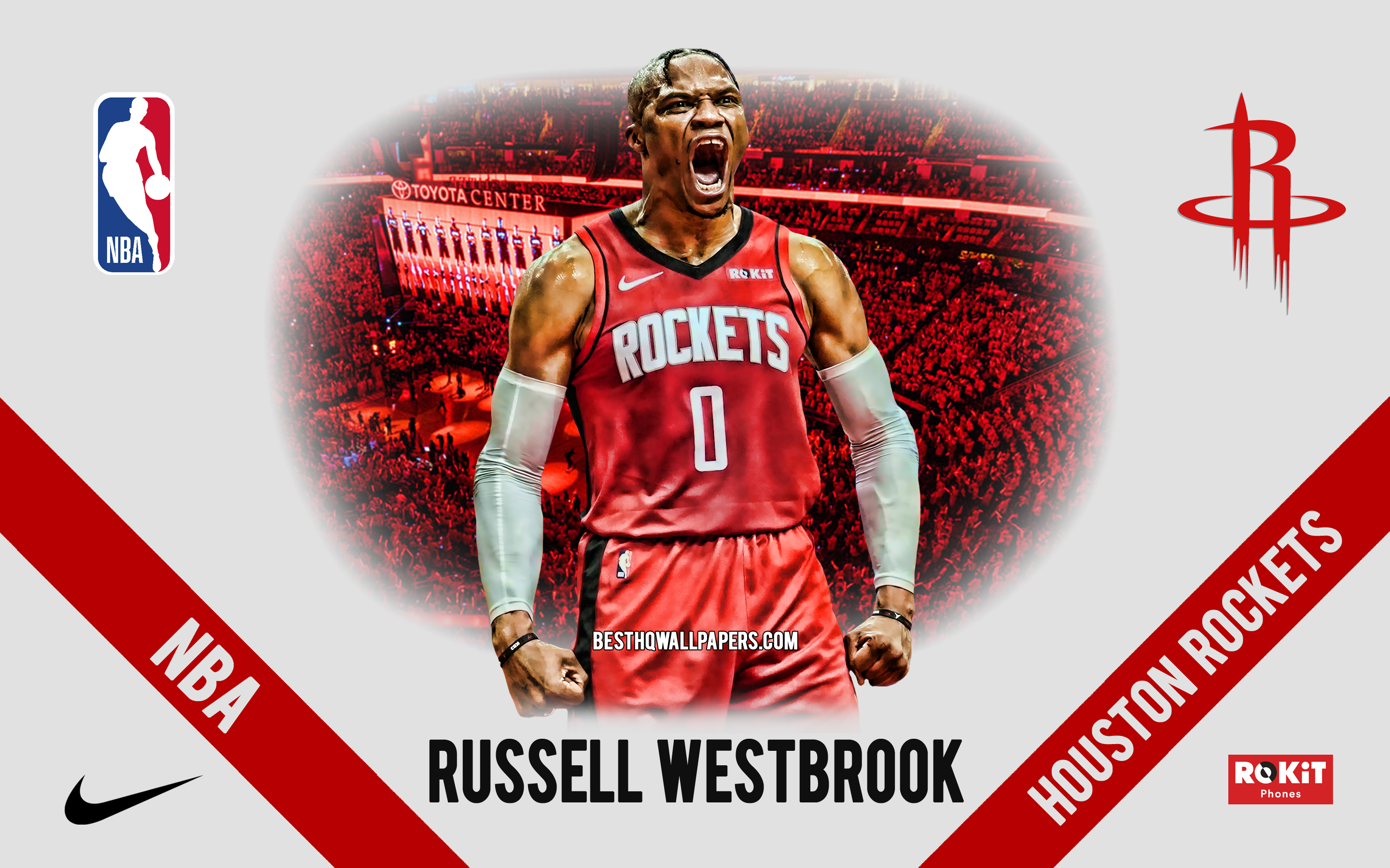 Russell Westbrook, Houston Rockets, American Basketball - Houston Rockets , HD Wallpaper & Backgrounds