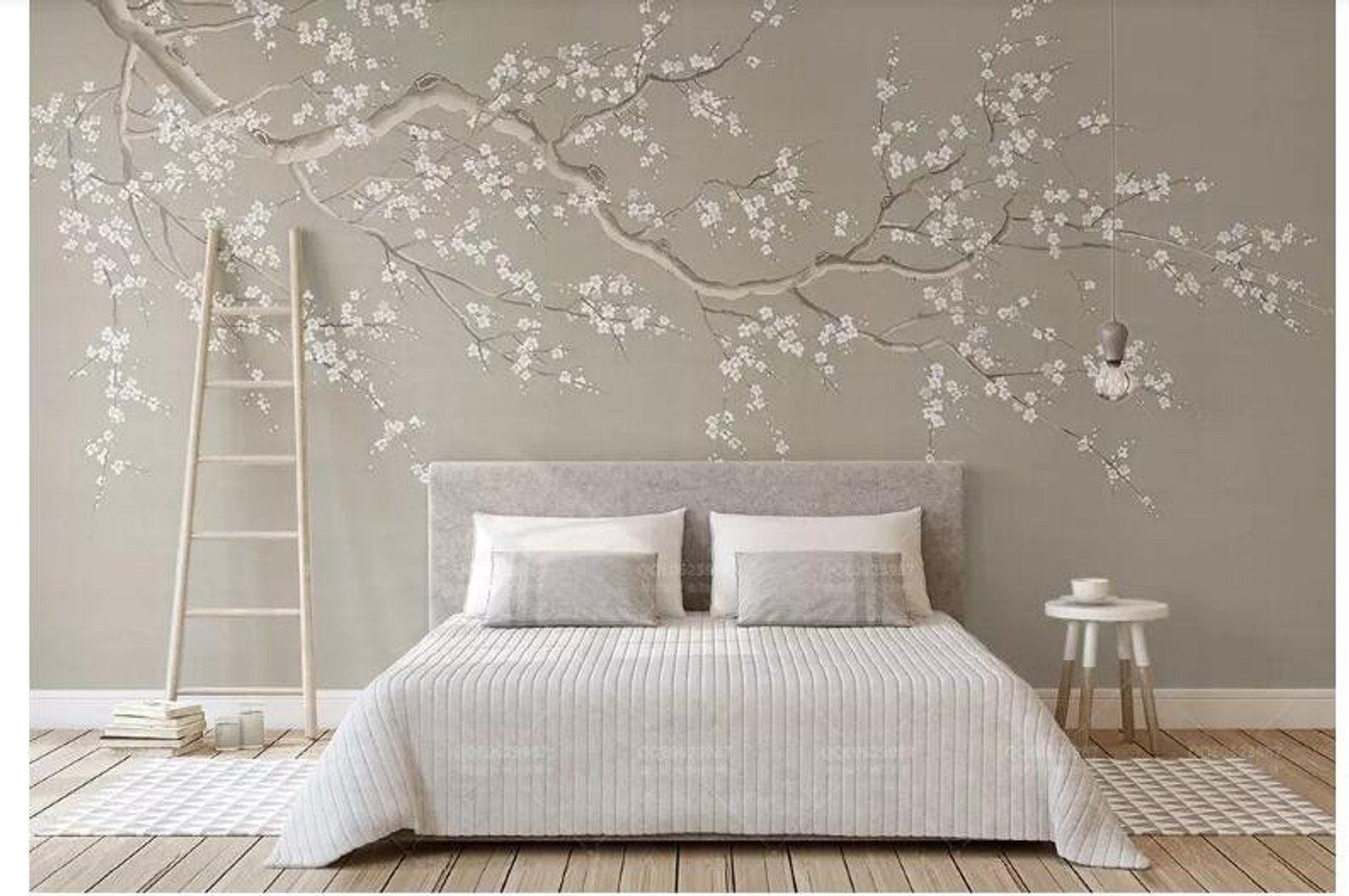 Bedroom Cherry Blossom Wall Mural , HD Wallpaper & Backgrounds