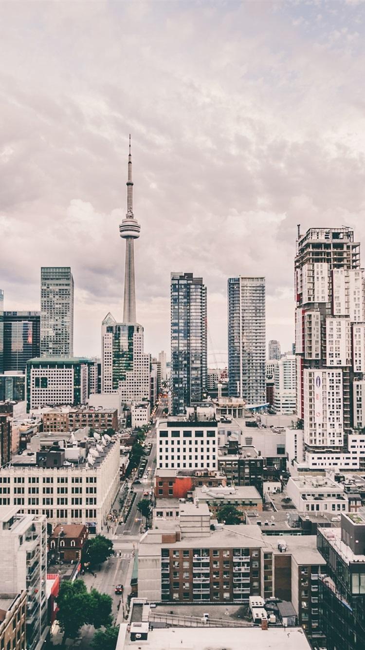 Iphone Wallpaper Cn Tower, City, Street, Skyscrapers, - Toronto City Wallpaper Iphone , HD Wallpaper & Backgrounds