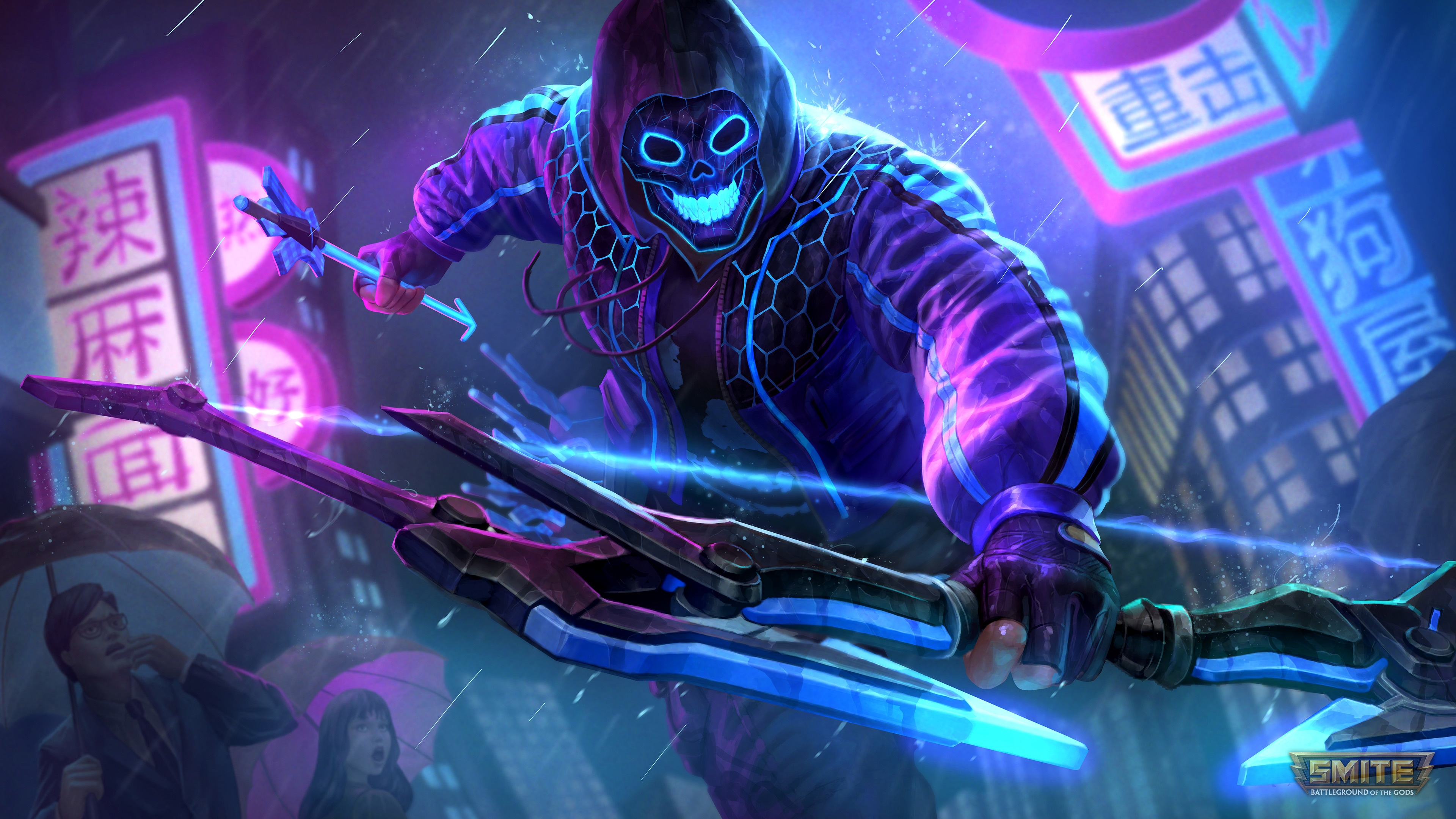 Smite Neon Hero Rama 4k Wallpaper Title Smite Neon Neon Rebellion Rama 2924897 Hd Wallpaper Backgrounds Download