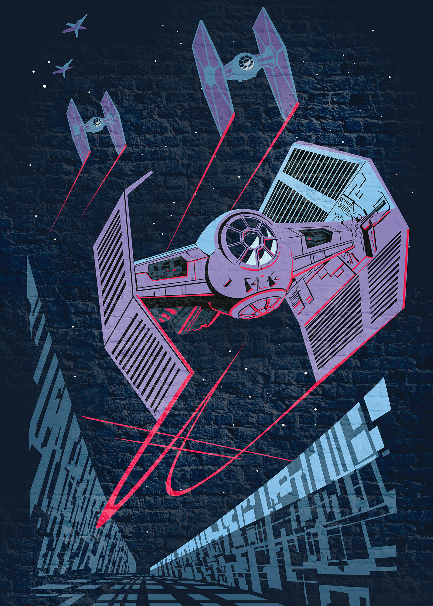 Star Wars Classic Concrete Tie Fighter   Title Star - Tie Fighter Star Wars , HD Wallpaper & Backgrounds