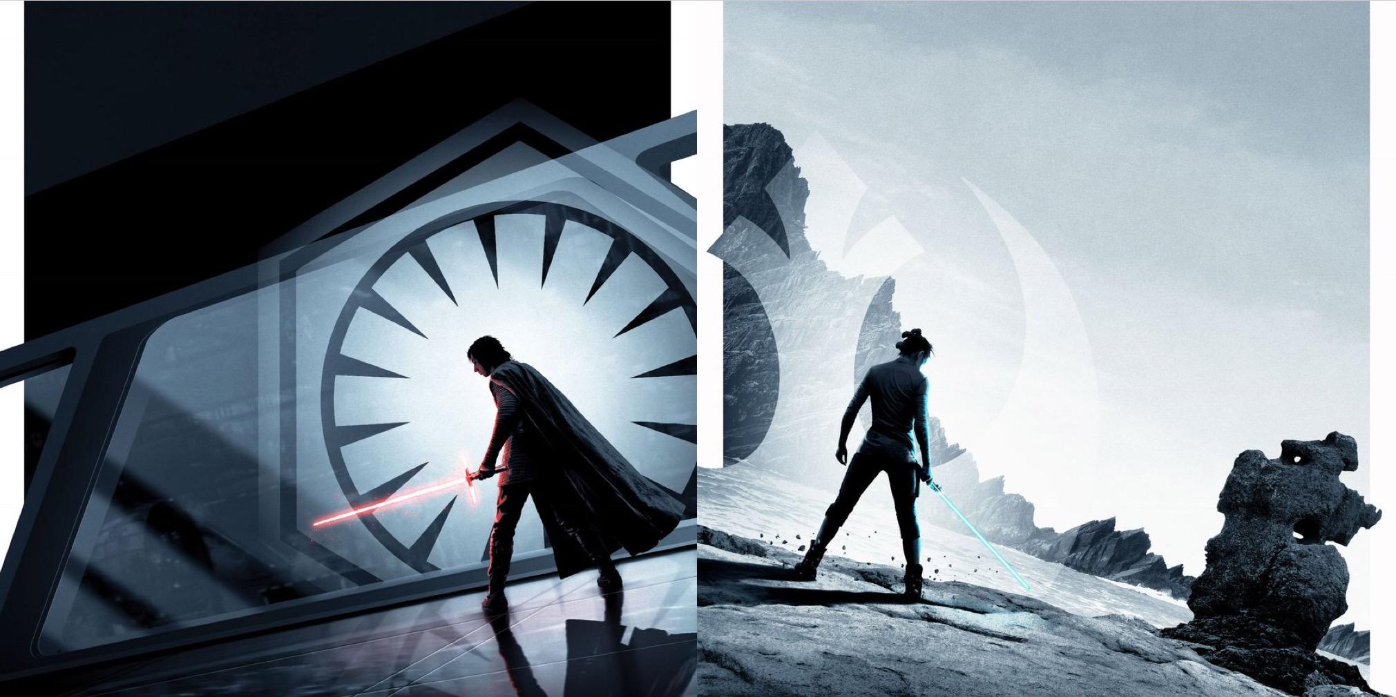 Last Jedi Art Poster , HD Wallpaper & Backgrounds