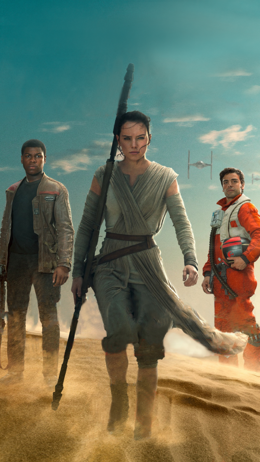 Star Wars The Force Awakens Wallpaper Star Wars Rey Finn Poe 2926982 Hd Wallpaper Backgrounds Download