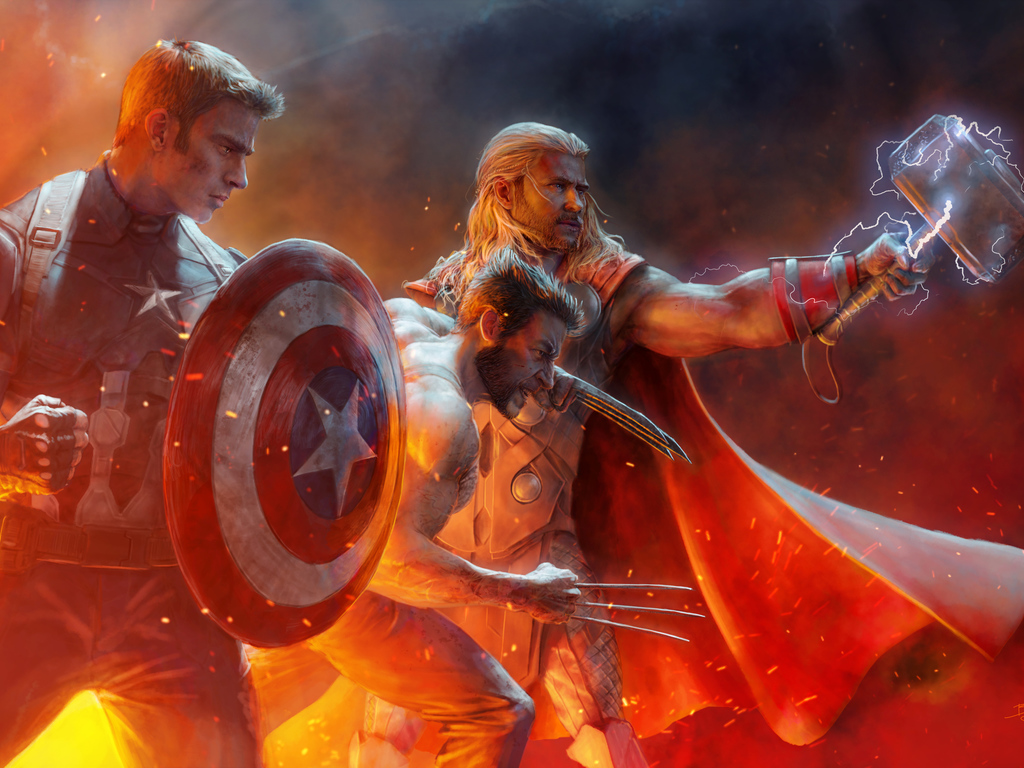 Captain America Wolverine Thor Wallpaper Awesome Hd 4k 5k Captain America Wallpaper 4k For Profile 2928235 Hd Wallpaper Backgrounds Download