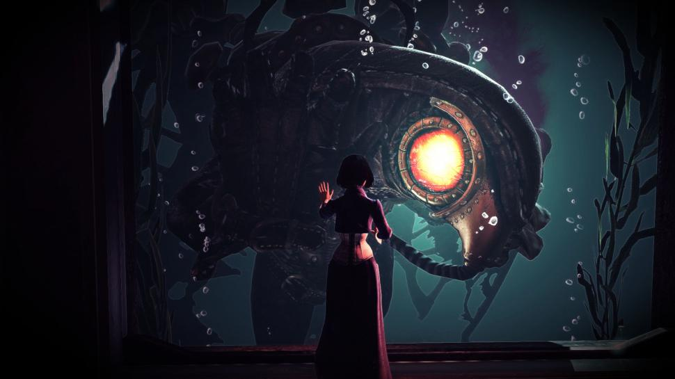 Bioshock Infinite Bioshock Elizabeth Songbird Rapture - Bioshock Infinite Wallpaper Songbird , HD Wallpaper & Backgrounds
