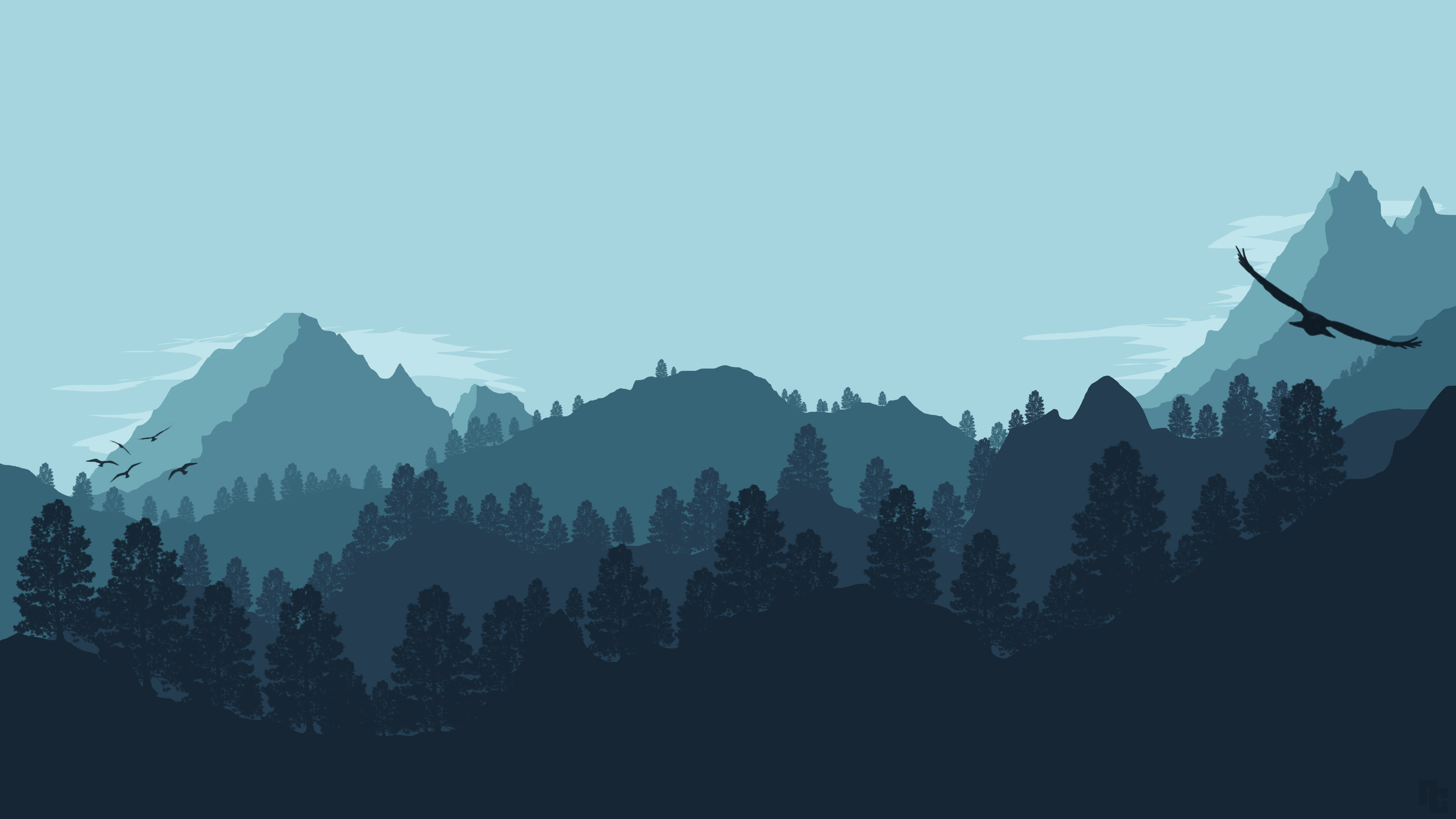 3840x2160, Kã¼nstlerisch - Minimalist Wallpaper Mountain ...