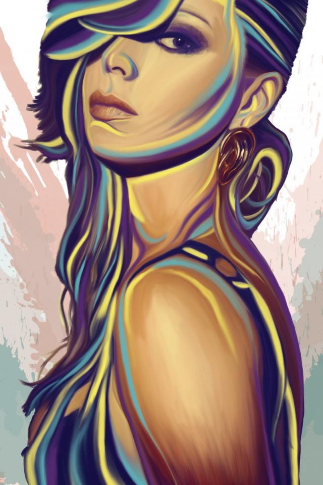 Art Girl Wallpaper Iphone , HD Wallpaper & Backgrounds