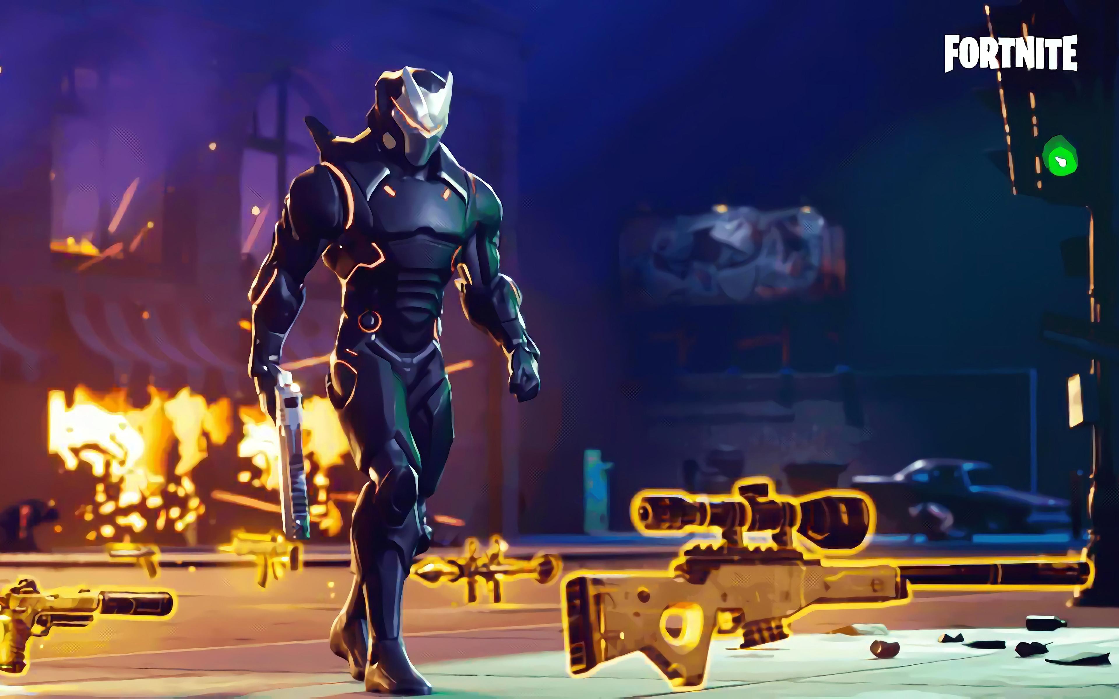 4k, Omega, Fortnite, Season 5, 2018 Games, Cyber Warrior, - Cool Background Fort Nite , HD Wallpaper & Backgrounds