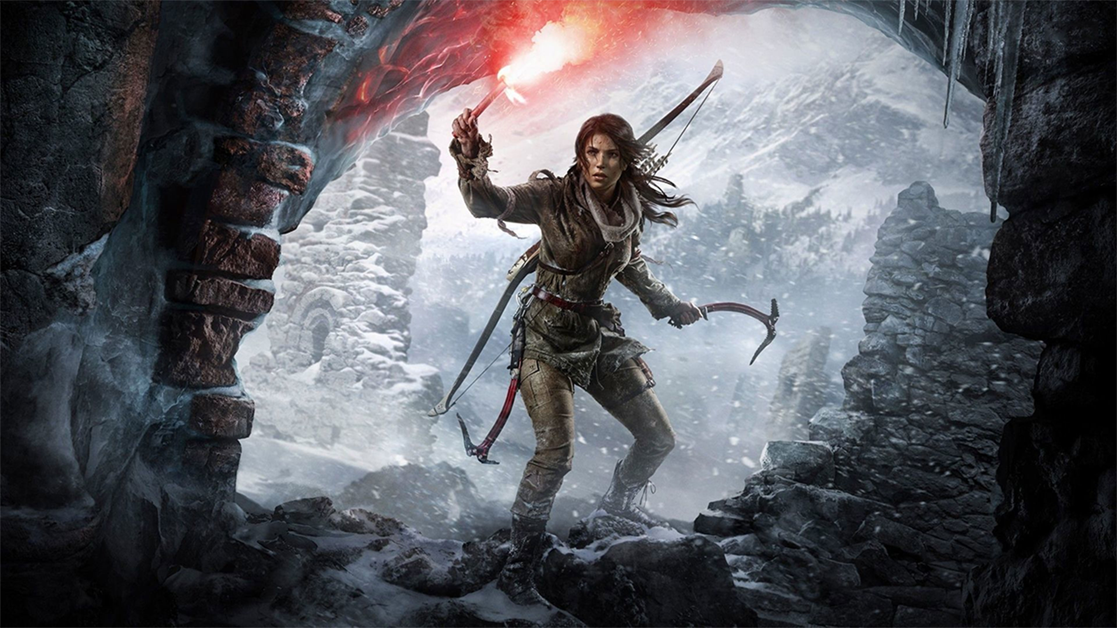 Rise Of The Tomb Raider 4k Wallpaper Gameranx - Rise Of The Tomb Raider Wallpaper 4k , HD Wallpaper & Backgrounds