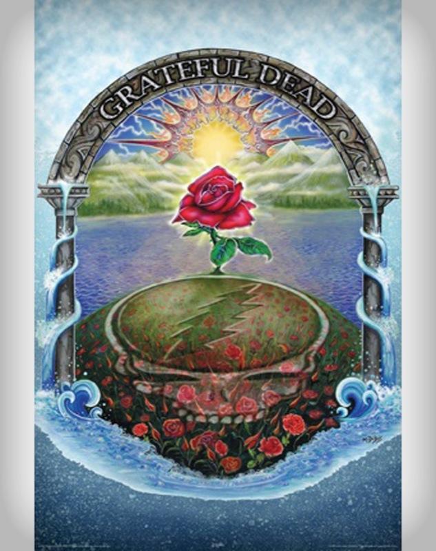 Download Grateful Dead Live Wallpapers For Android - Grateful Dead Rose Poster , HD Wallpaper & Backgrounds