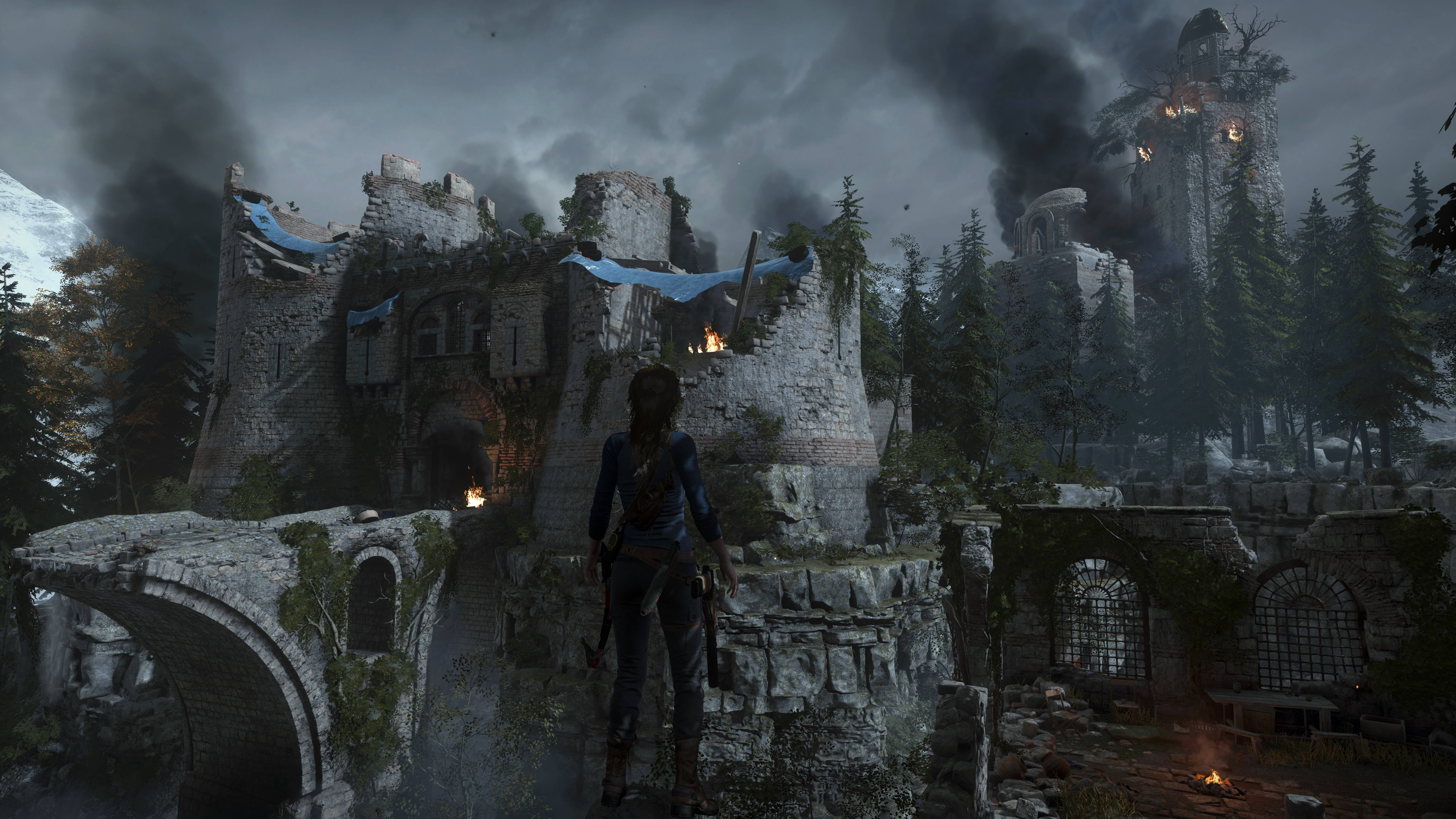 Rise Of The Tomb Raider Wallpaper 4k , HD Wallpaper & Backgrounds