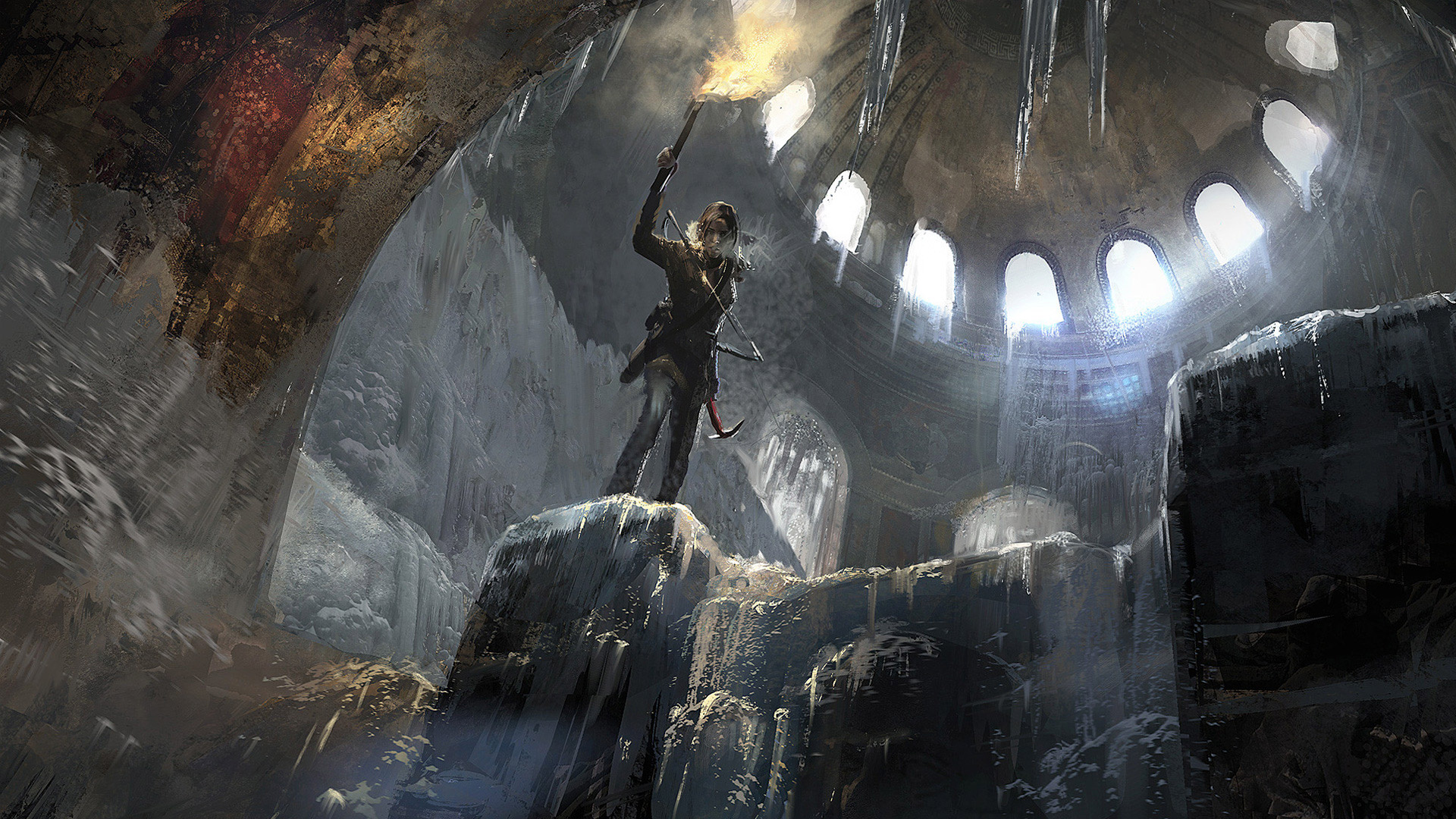 Rise Of The Tomb Raider Wallpaper - Rise Of The Tomb Raider Art , HD Wallpaper & Backgrounds