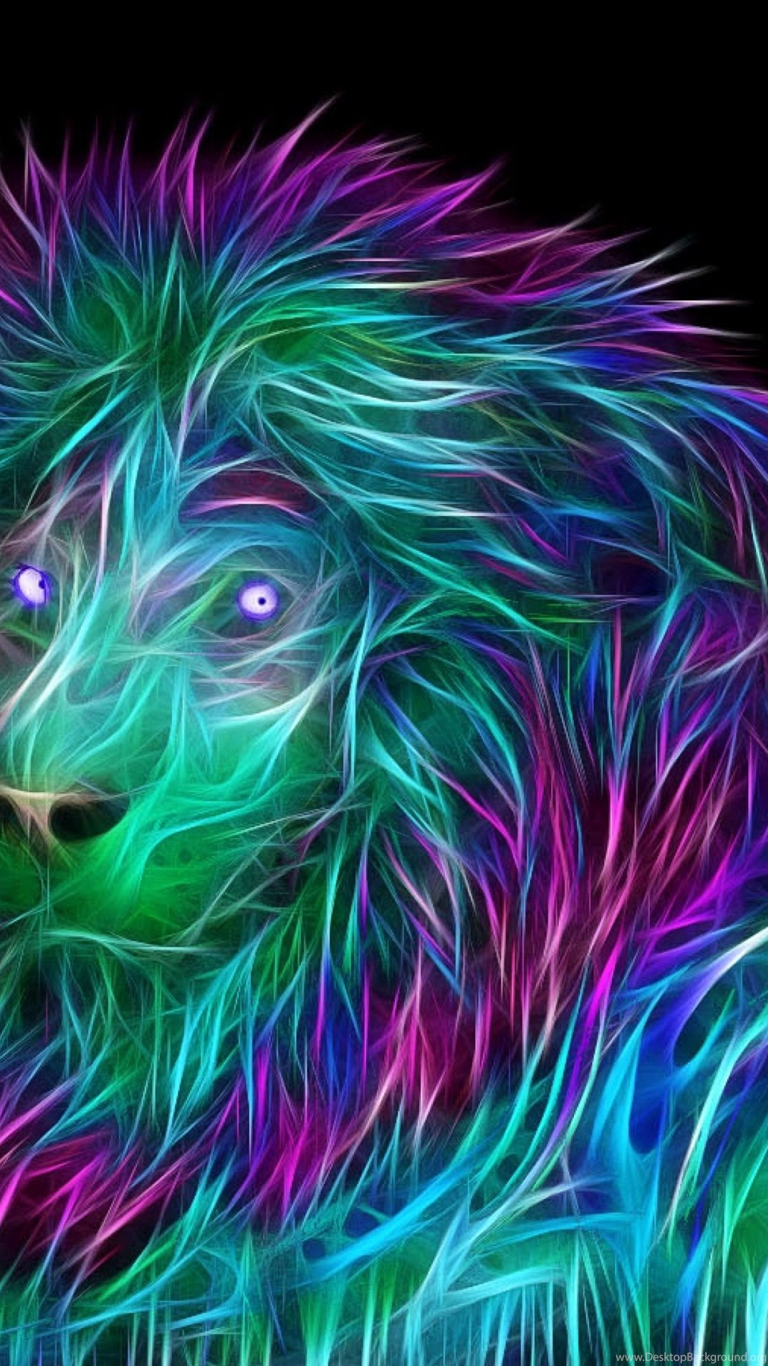 Download Wallpapers Abstract, 3d, Art, Lion 4k Ultra - Animals Abstract Wallpapers Hd , HD Wallpaper & Backgrounds