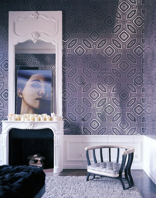 15 Inspiring Rooms With Modern Wallpaper Modern Wallpaper - Ange Dans Une Hotel Particulier Lenny Kravitz , HD Wallpaper & Backgrounds