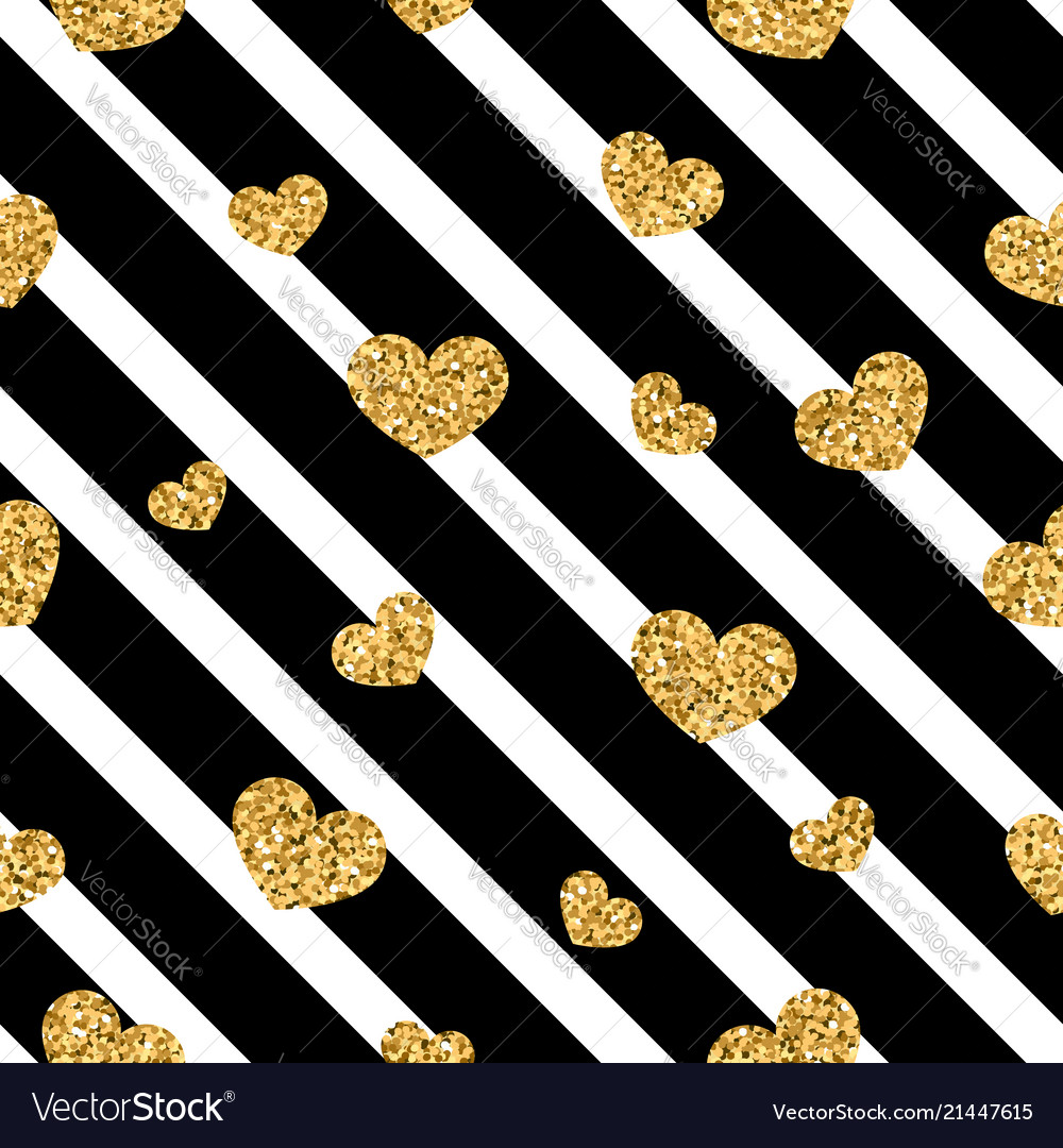 Gold Heart Seamless Pattern Black White Geometric Black And Gold With White Wallpaper Heart 2952348 Hd Wallpaper Backgrounds Download