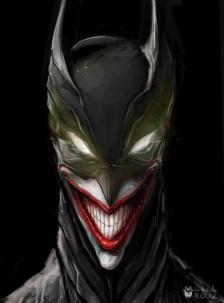 Marvel Batman Joker Wallpaper, Black Background, Studio - Black And White Joker , HD Wallpaper & Backgrounds