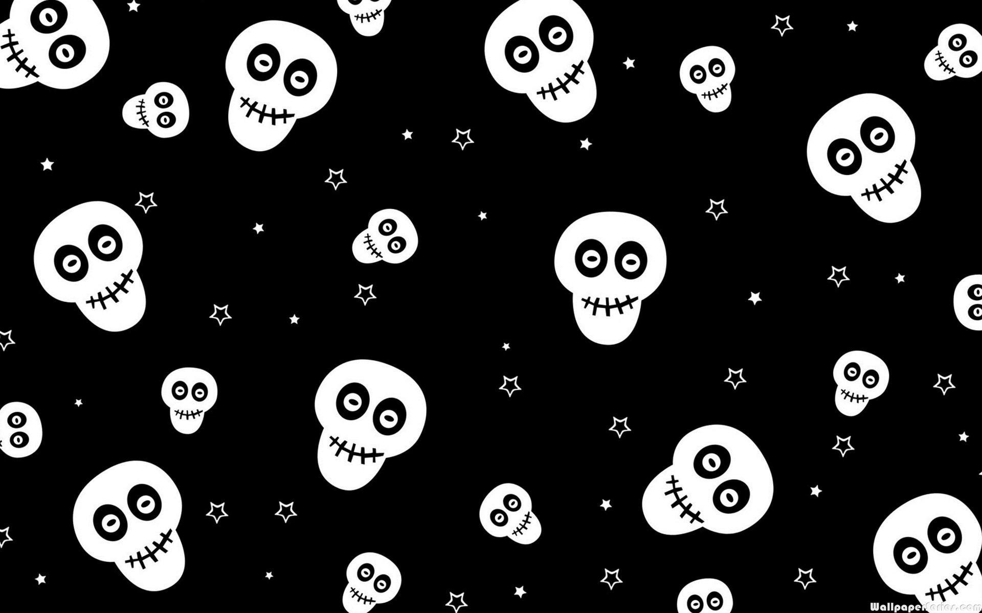 Hd Cute Skull Pattern Wallpaper Halloween Skeleton Desktop Background 2960011 Hd Wallpaper Backgrounds Download