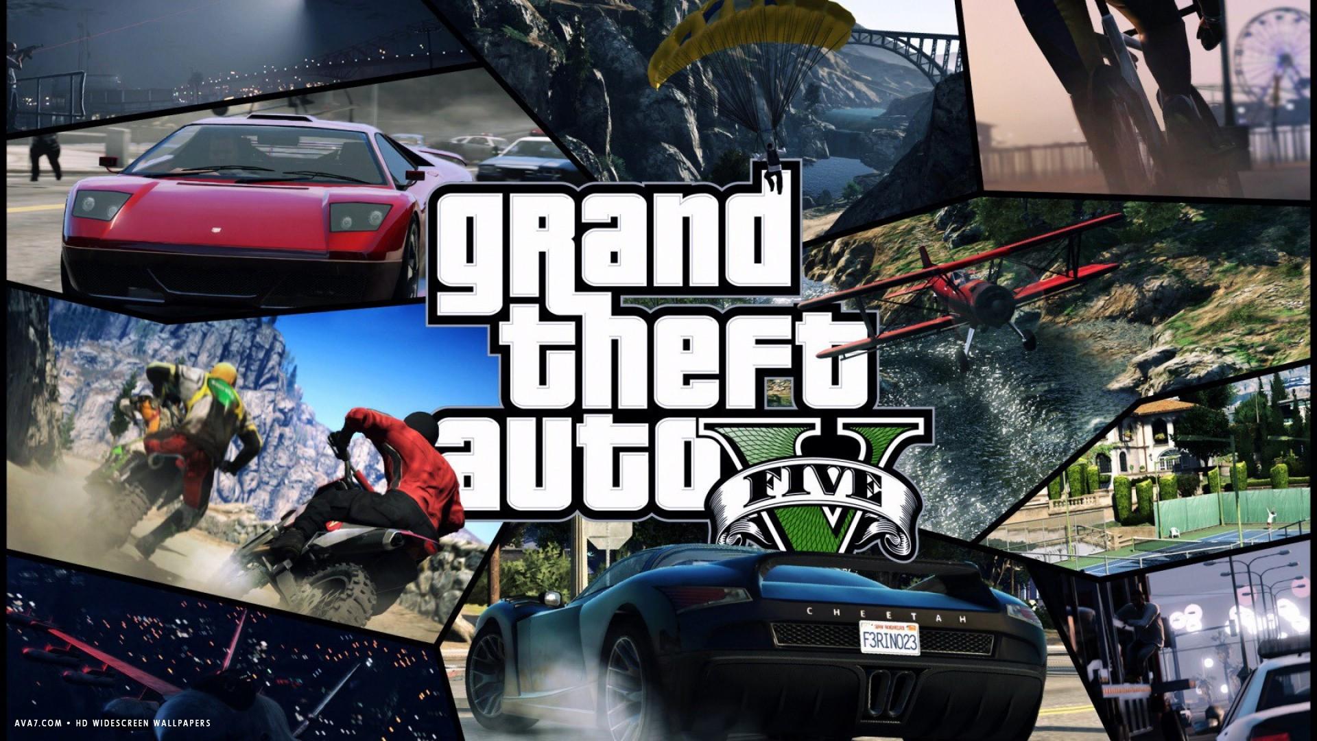 Gta 5 Game Tiles Gta V Grand Theft Auto 5 Hd Widescreen - Gta V Wallpaper 4k , HD Wallpaper & Backgrounds