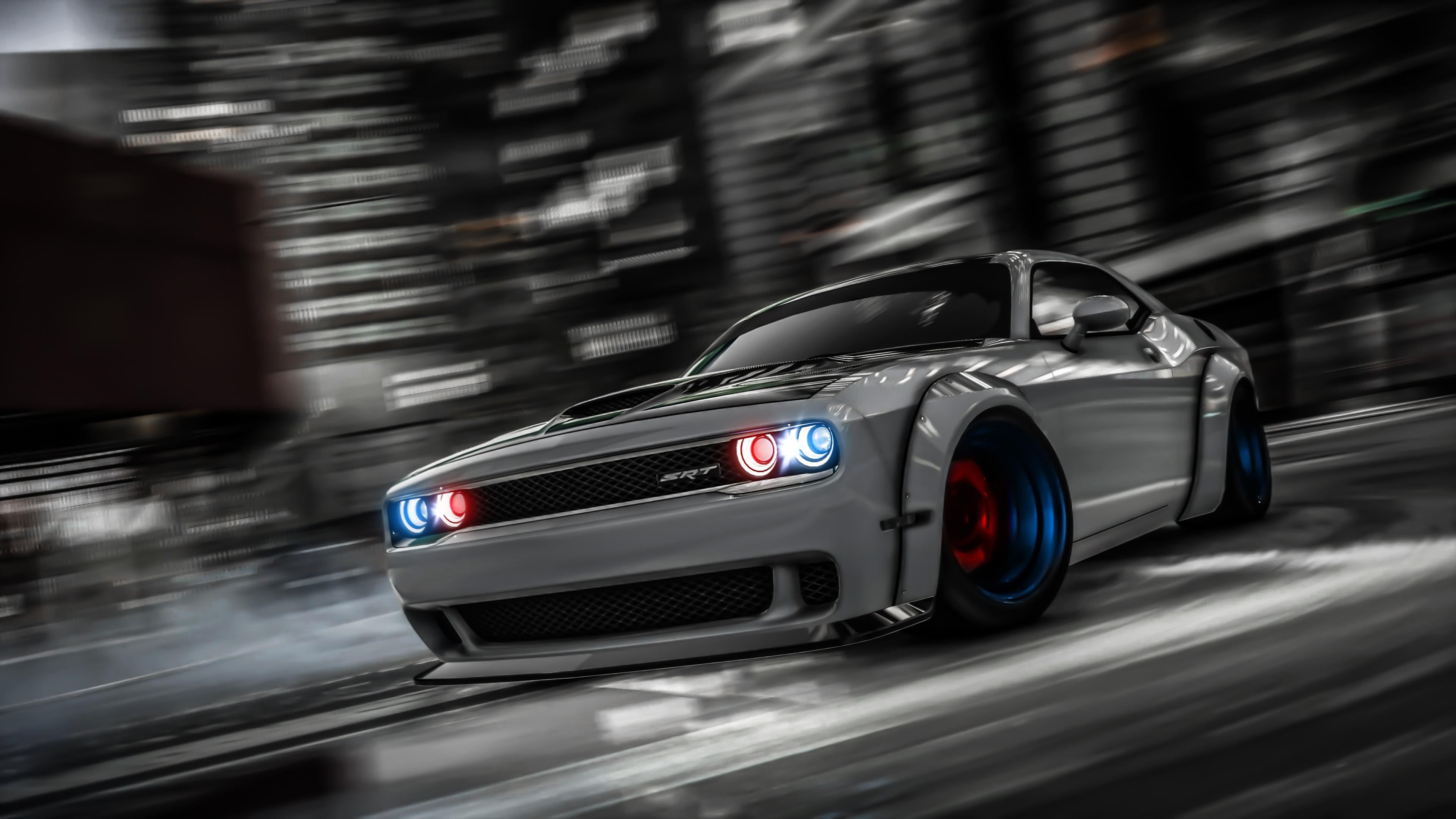 Dodge Challenger Drifting Gta V - Gta V Wallpaper 4k , HD Wallpaper & Backgrounds