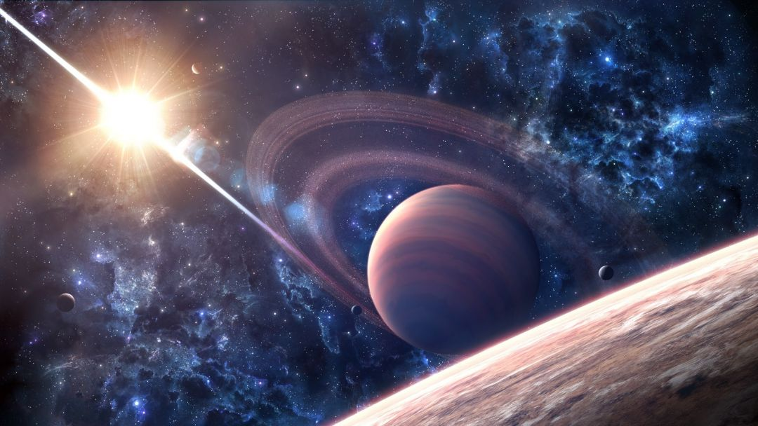 Outer Space Wallpaper Planets - Space Background Saturn , HD Wallpaper & Backgrounds