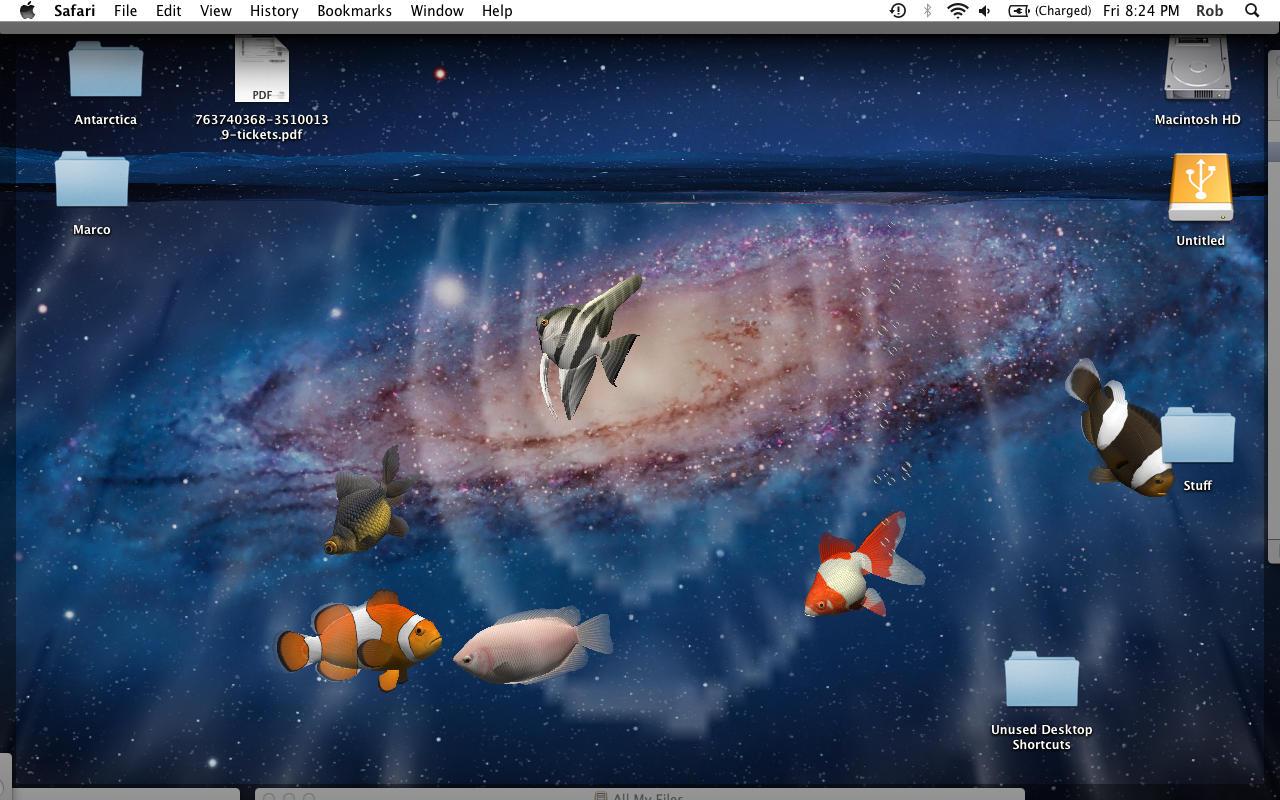 Desktop Aquarium 3d Live Wallpaper & Screensaver - Screensaver Aquarium Mac , HD Wallpaper & Backgrounds