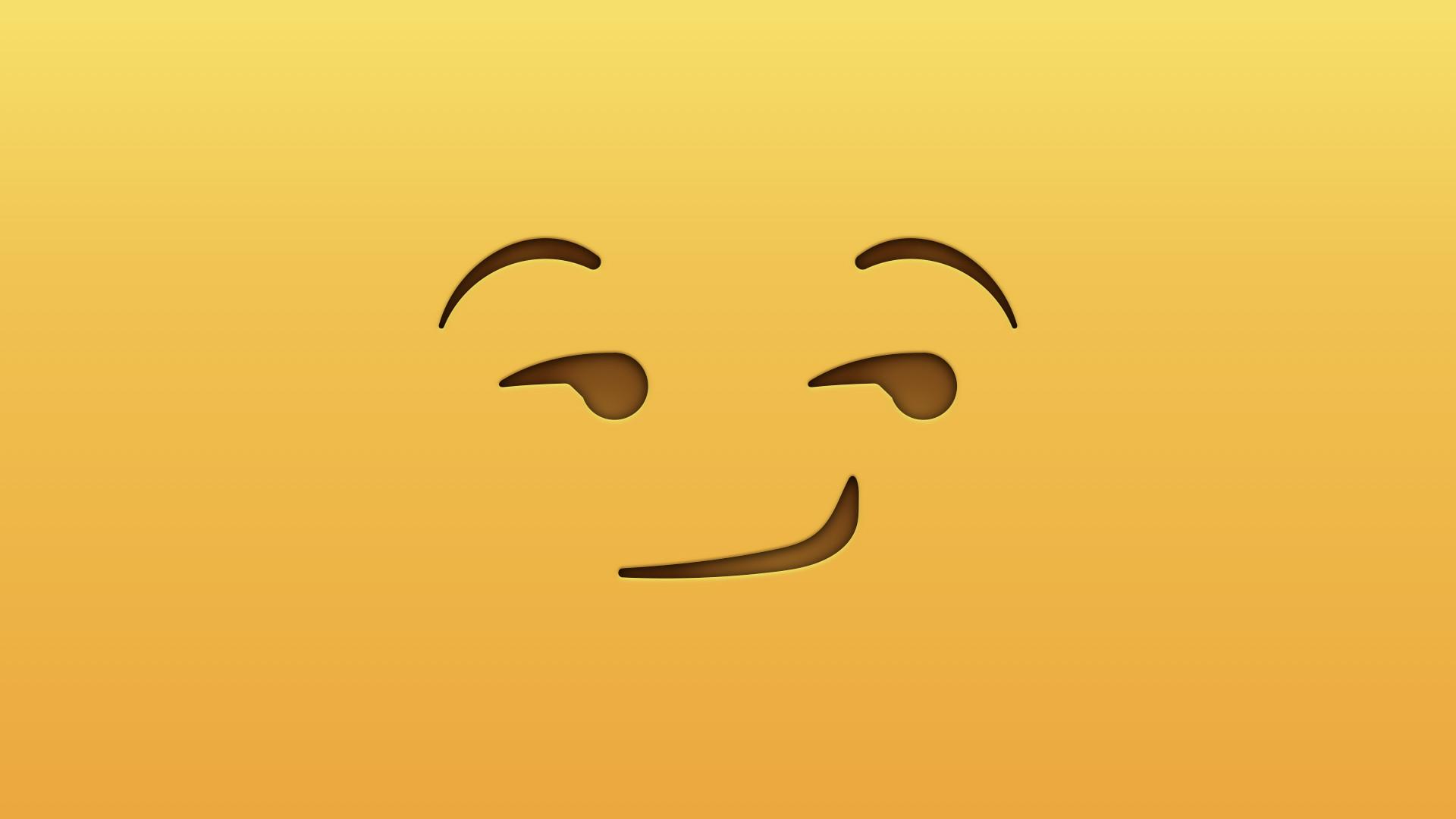 19] Smirk Emoji Wallpapers On Wallpapersafari - Emoji Desktop Backgrounds , HD Wallpaper & Backgrounds