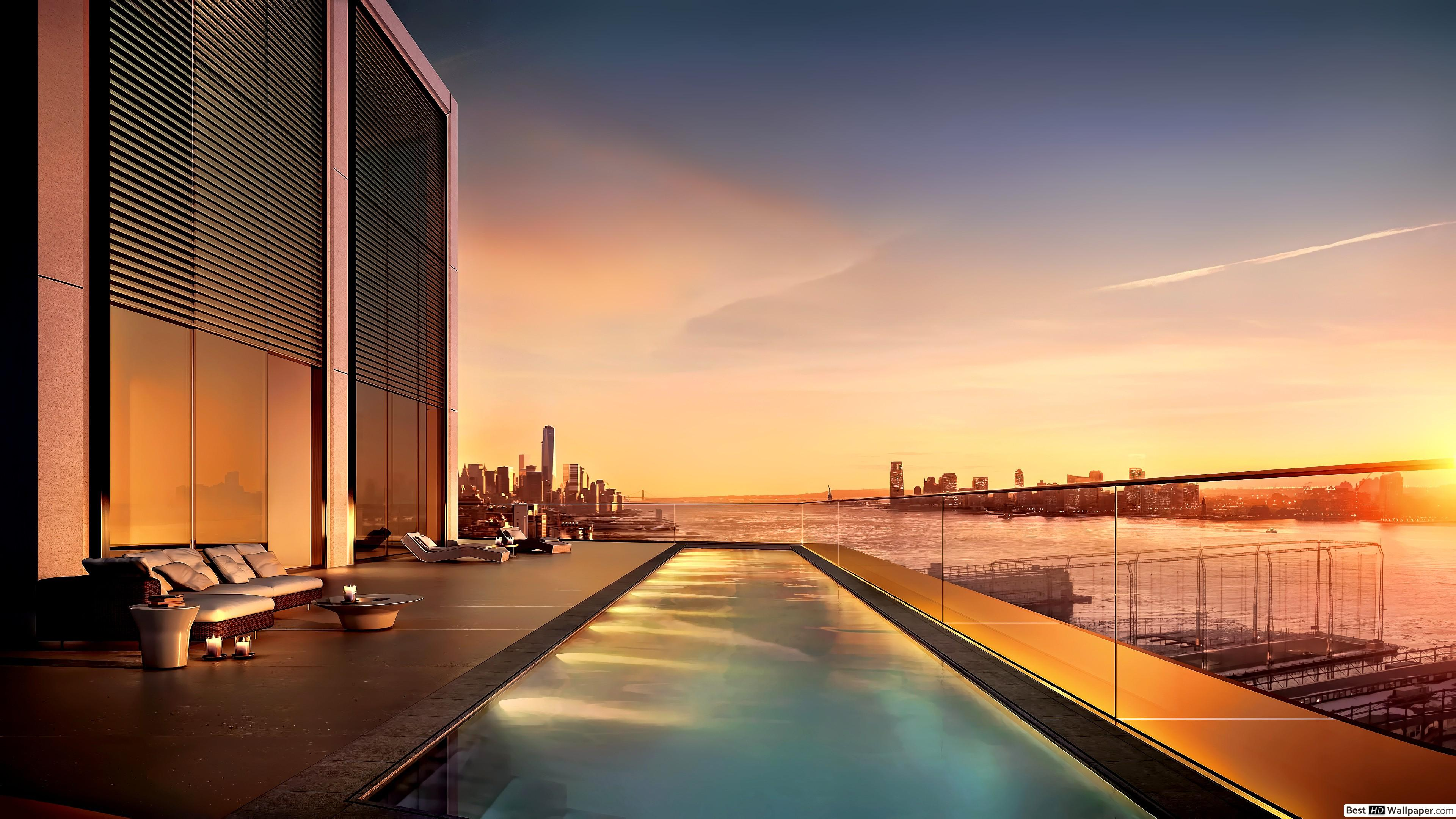 New York City Penthouse Pool , HD Wallpaper & Backgrounds