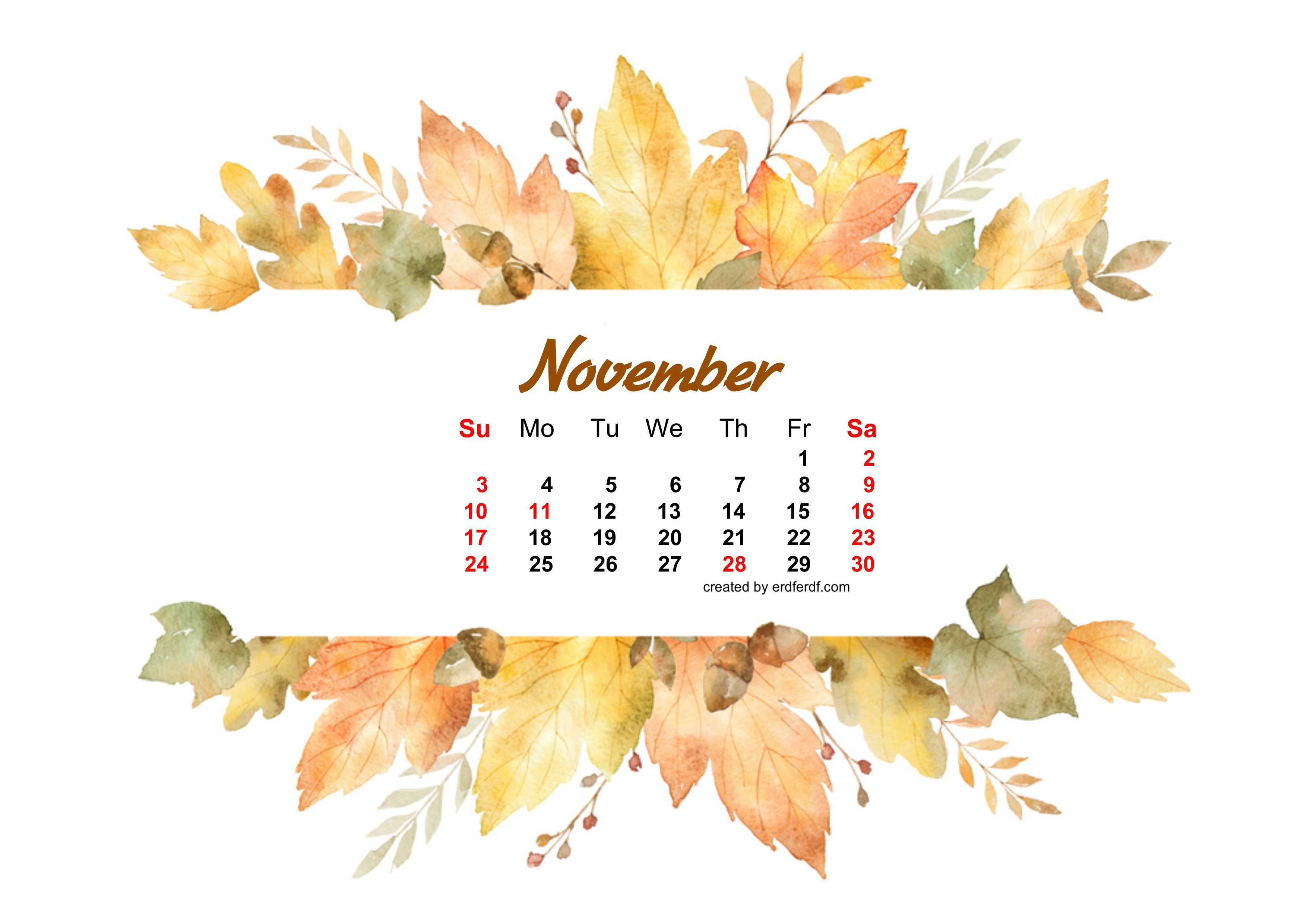 Watercolor Leaf Dried November 2019 Calendar Picture Autumn Leaves Watercolor Banner 2977002 Hd Wallpaper Backgrounds Download