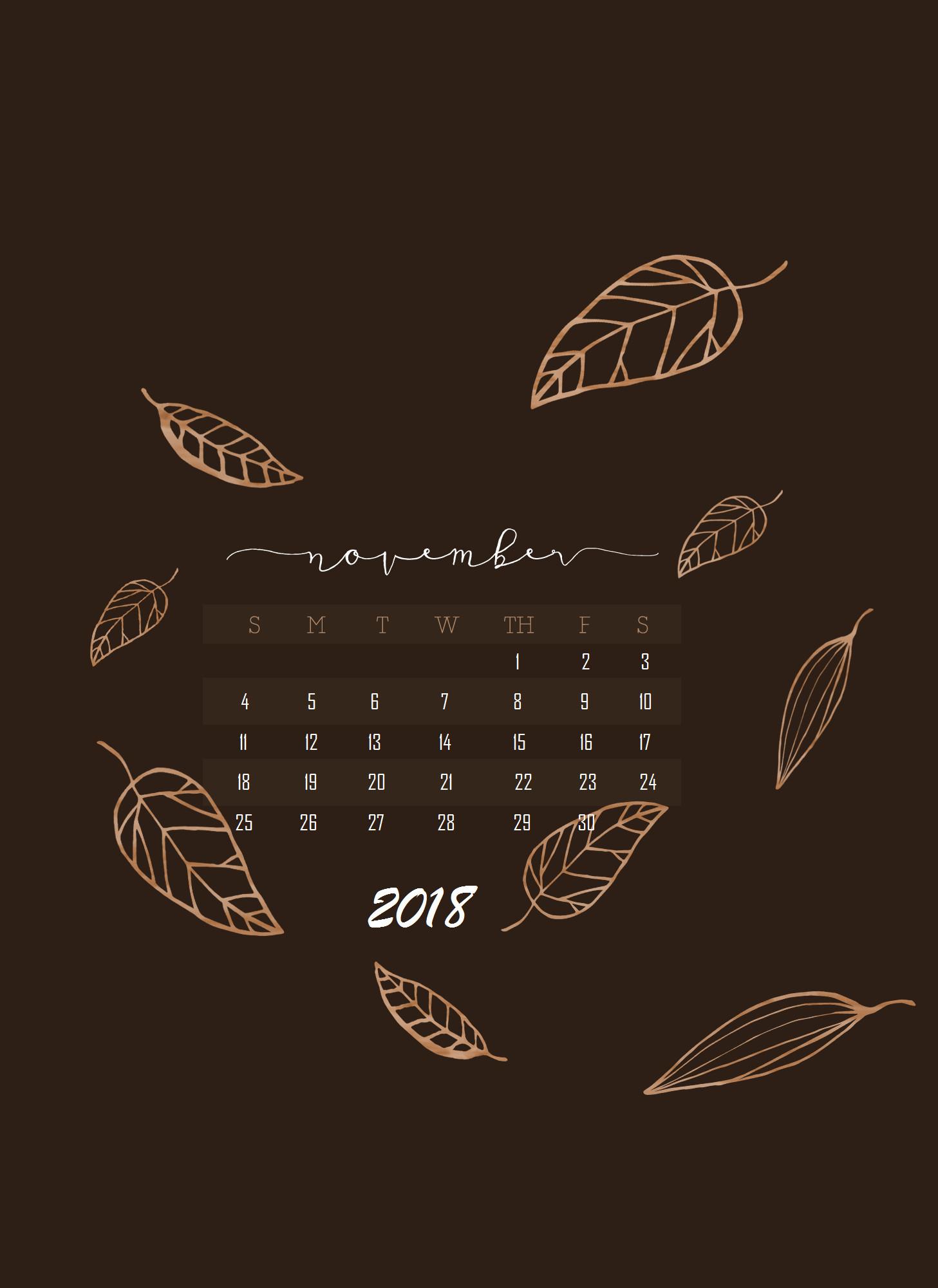 November 2018 Iphone Calendar Wallpaper   Data Src - November Calendar Wallpaper 2019 , HD Wallpaper & Backgrounds