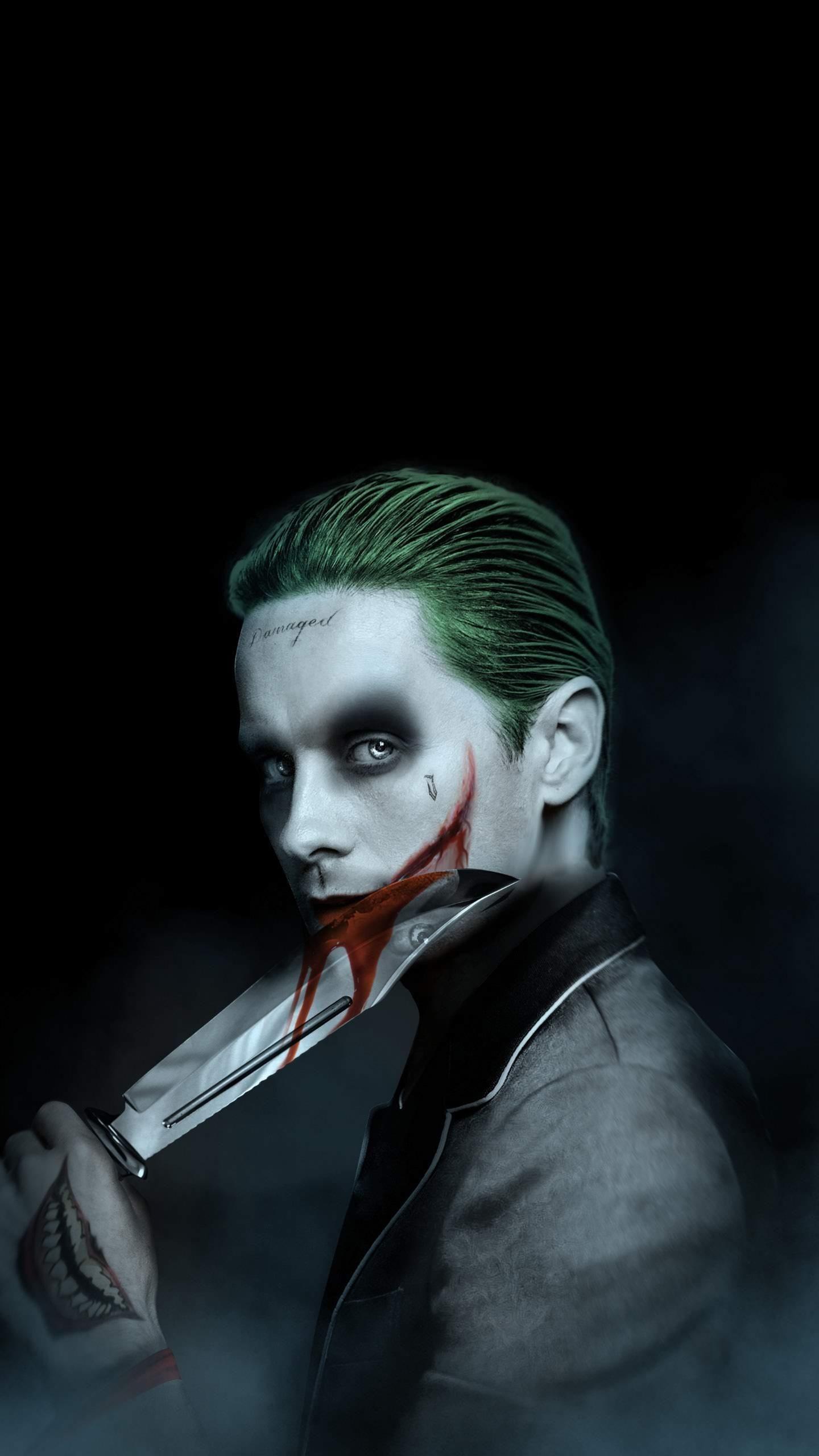 The Joker Iphone Wallpaper - Suicide Squad Joker Wallpaper Iphone , HD Wallpaper & Backgrounds