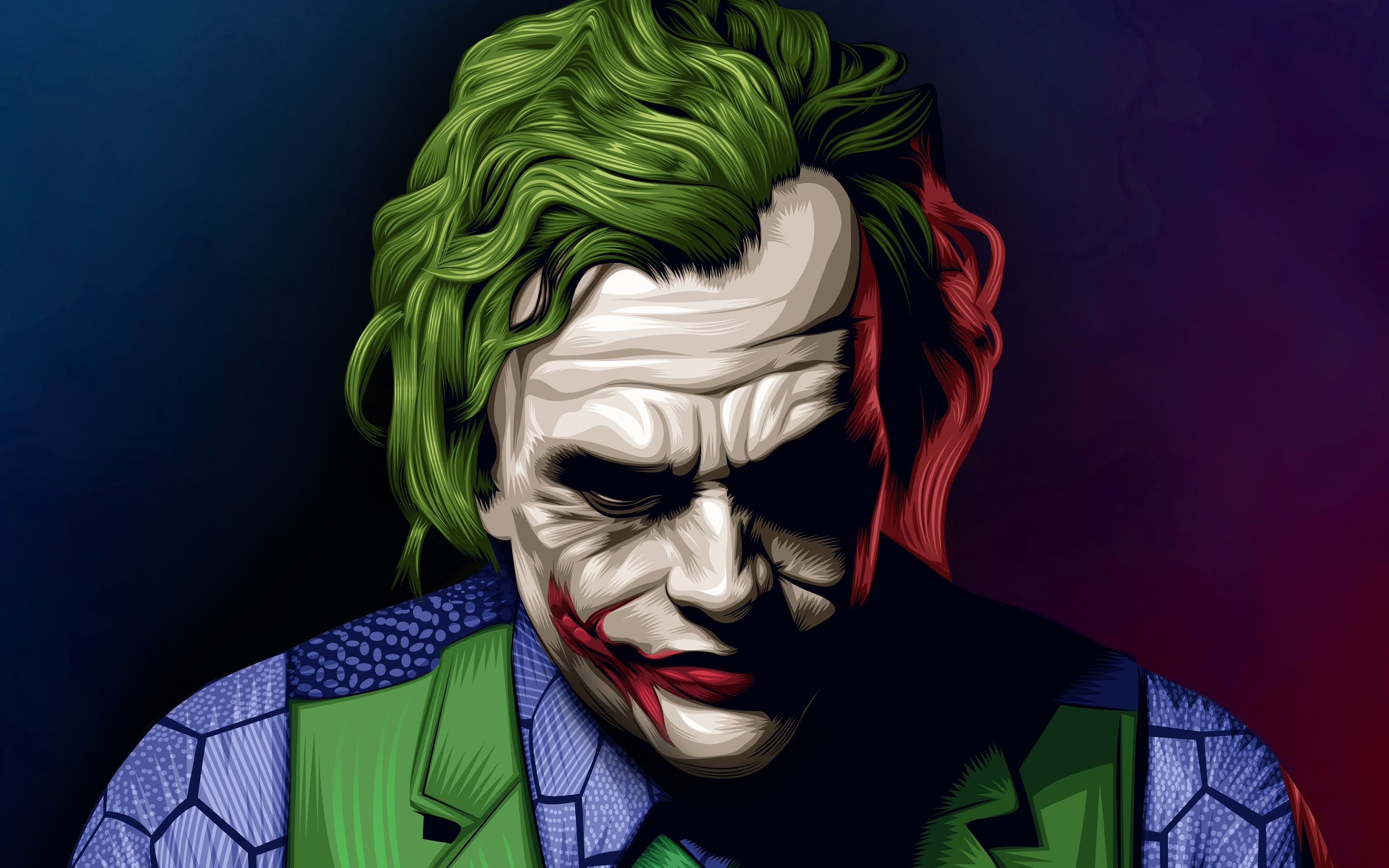 Joker Heath Ledger Illustration Macbook Pro Retina Hd 4k Wallpapers Joker 2979741 Hd Wallpaper Backgrounds Download