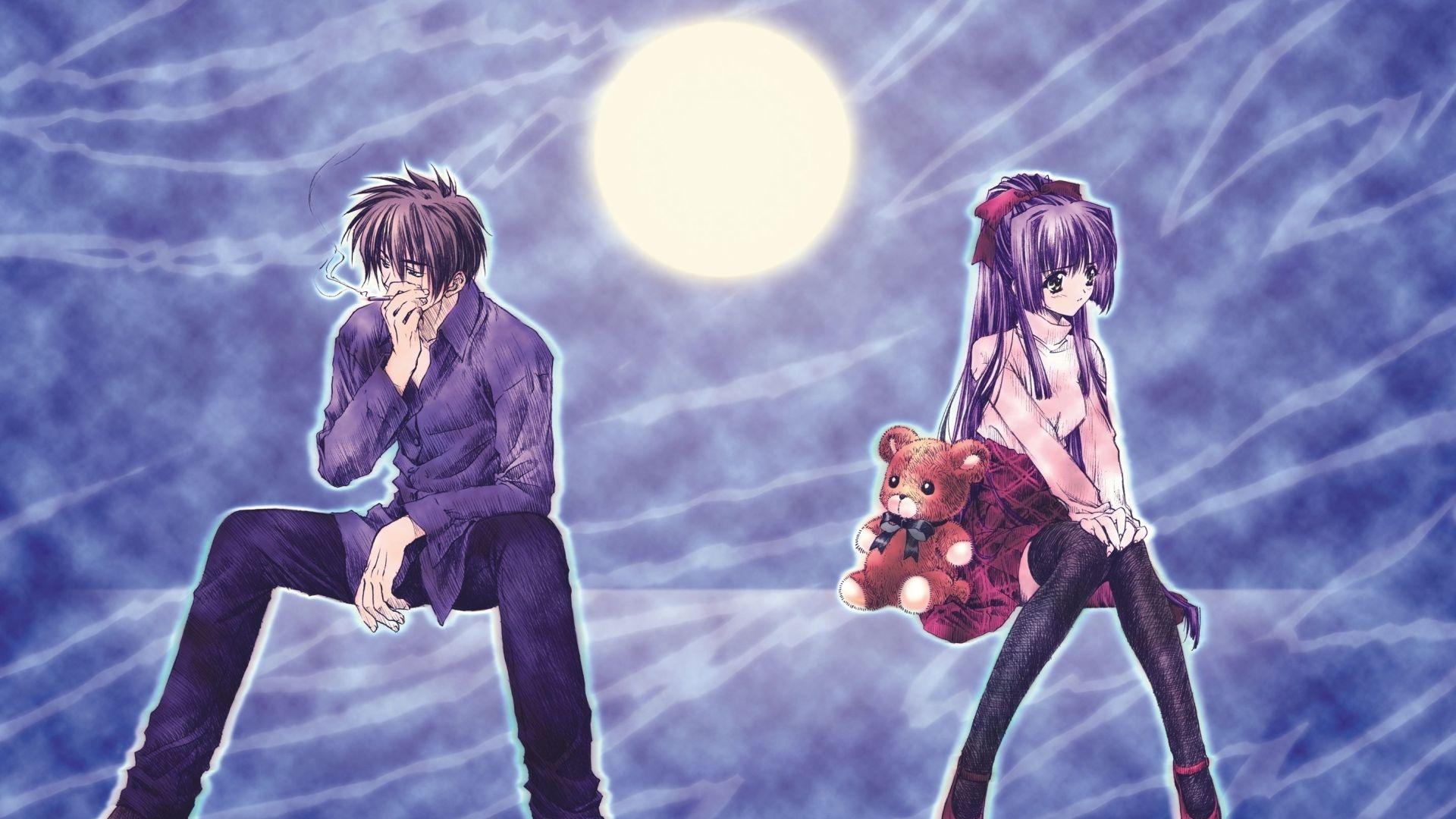 Boy, Girl, Cigarette - Japanese Anime Walpaper (#9) - HD