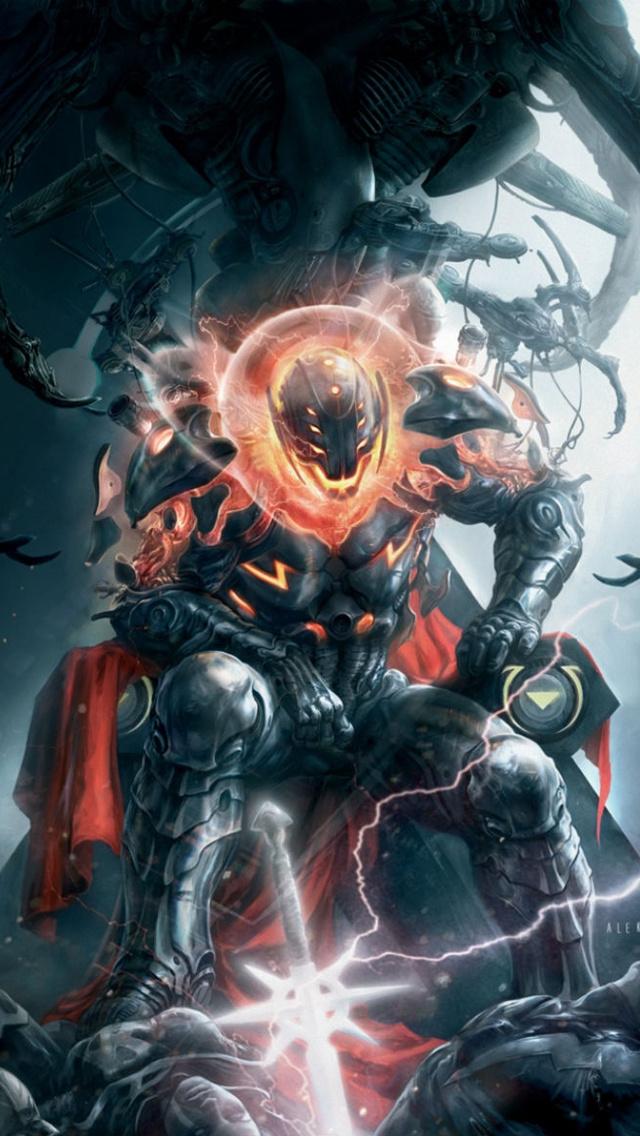 Marvel Villain Iphone 5 Wallpaper - Ultron Marvel , HD Wallpaper & Backgrounds