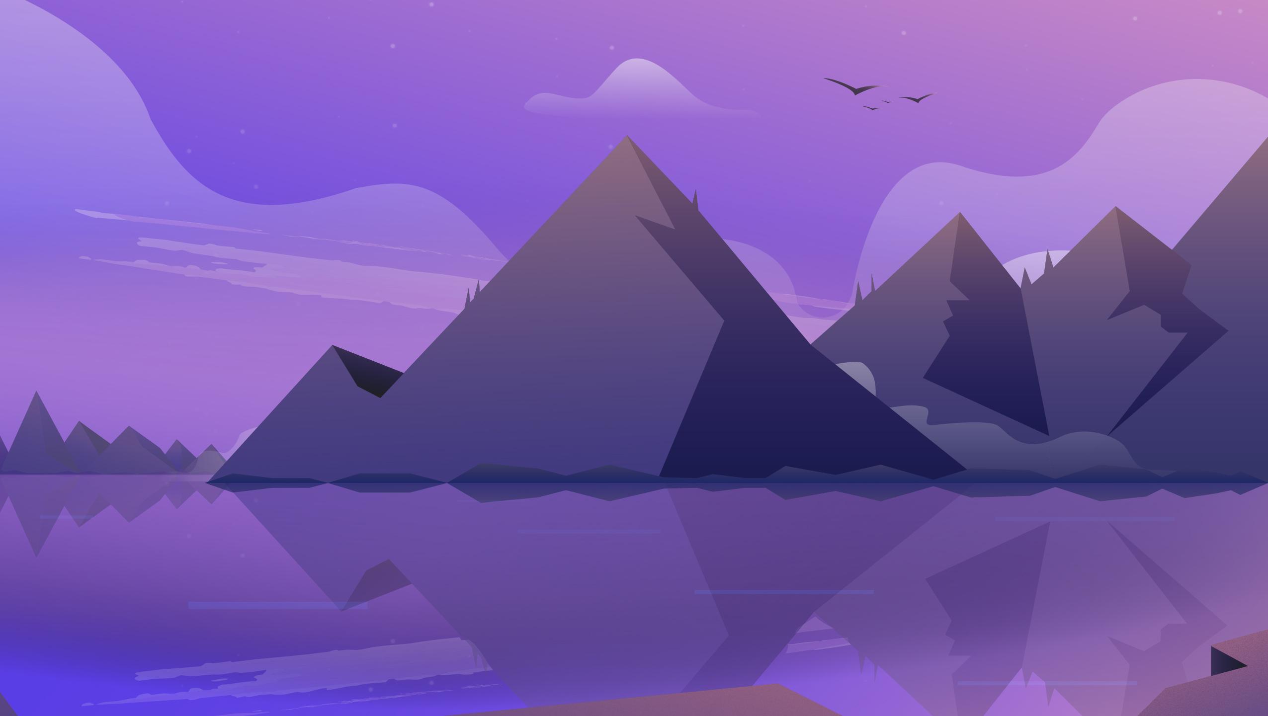 Mountain Illustration Wallpaper 4k , HD Wallpaper & Backgrounds