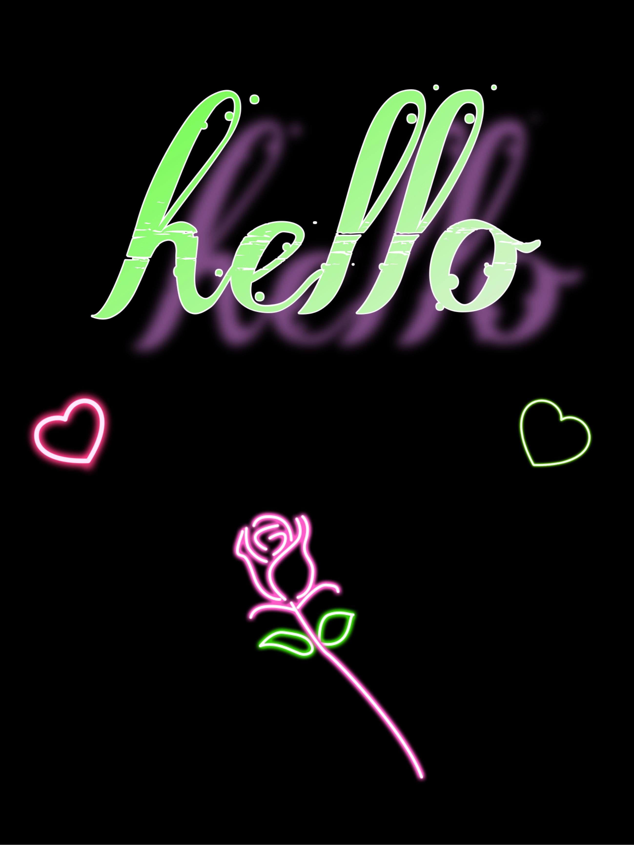 Freetoedit Hello Wallpaper Neon Rose Pink Green Graphic Design 2991526 Hd Wallpaper Backgrounds Download