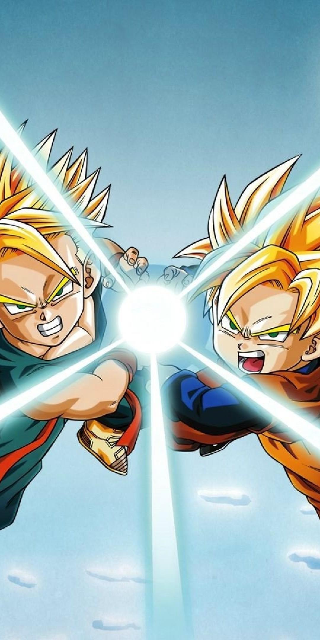 Dragon Ball Z Trunks Goten Super Saiyan Mode Dragon Ball Z Wallpaper Iphone 11 2994763 Hd Wallpaper Backgrounds Download