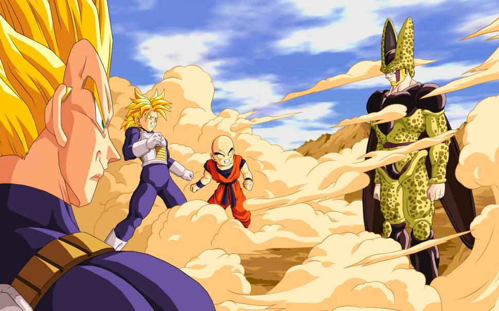 Vegeta Cell Trunks Dragon Ball Z Nostal Dragonball - Dragon Ball Cells Game , HD Wallpaper & Backgrounds