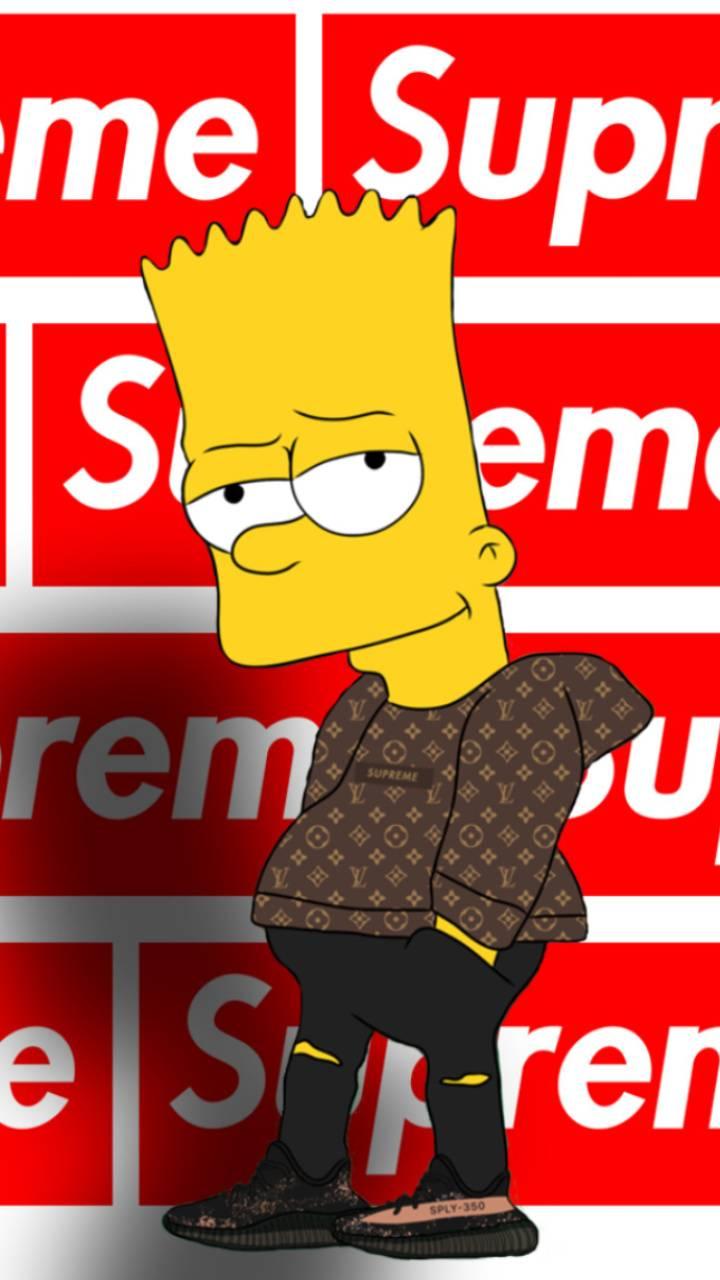 Download Supreme Wallpaper Bart Simpson On Itl.cat