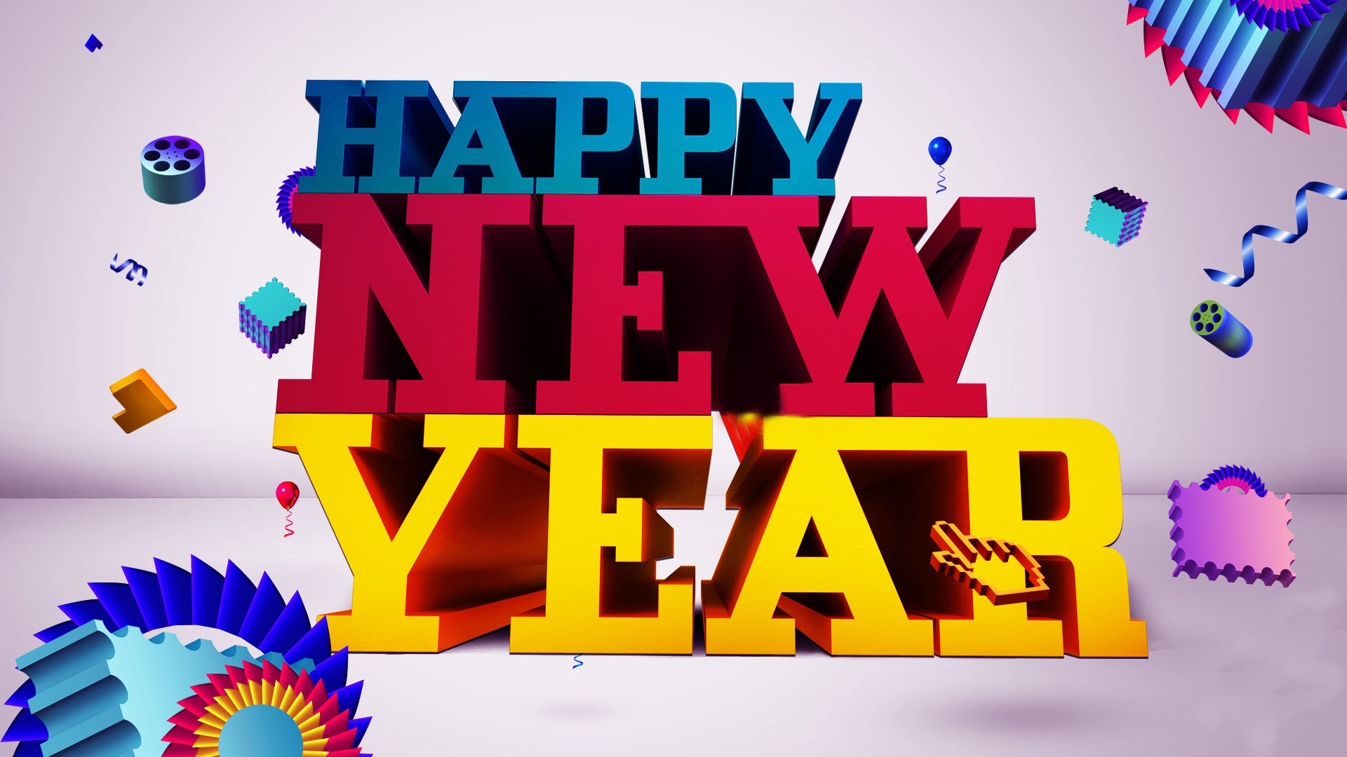 Free Happy New Year Hd 2016 - Happy New Year 2015 Wallpaper Free Download 2017 , HD Wallpaper & Backgrounds