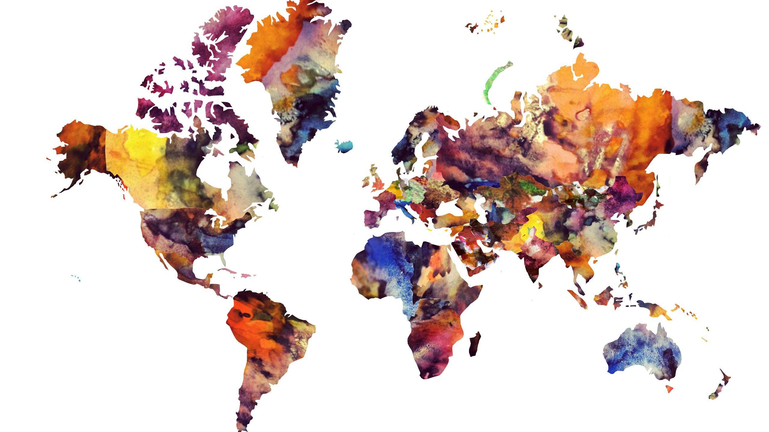 World Map Watercolor Wallpaper Inspirationa Maps World Map