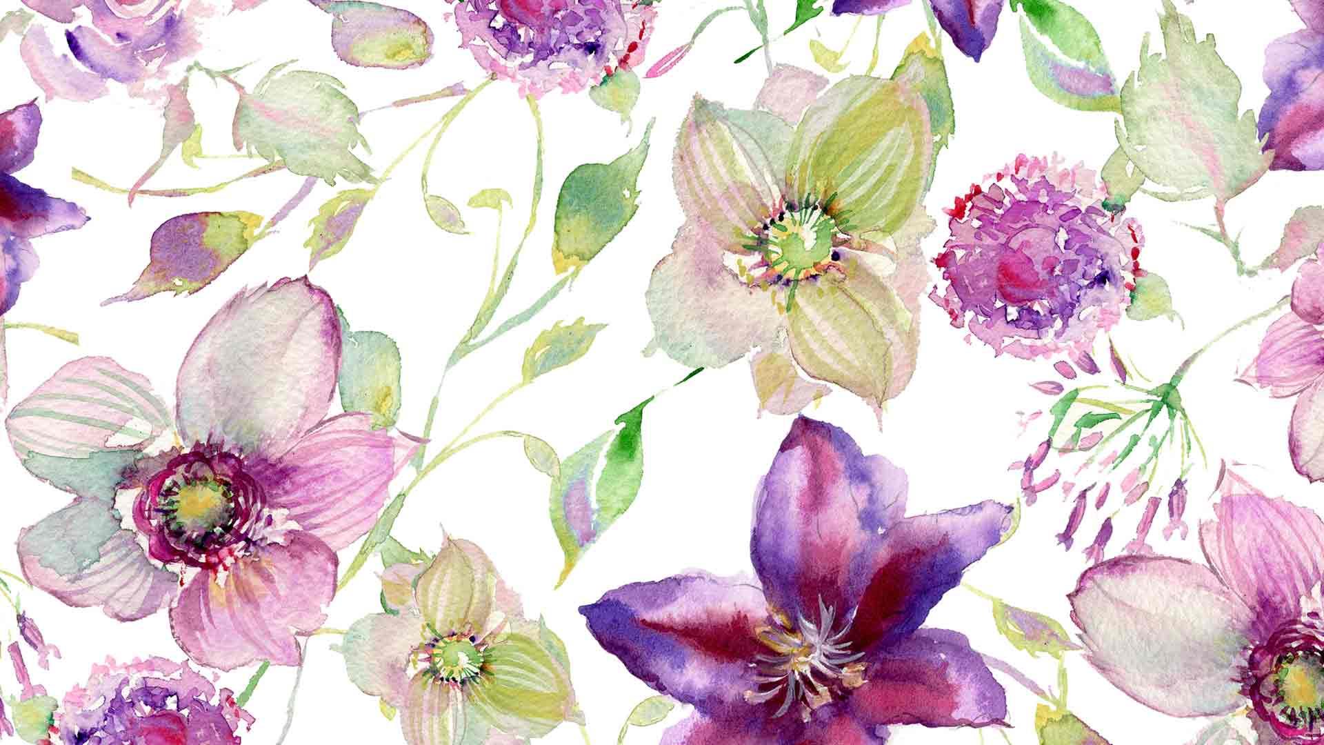 Watercolor Wallpaper Hd - Watercolor Flowers Wallpaper Hd , HD Wallpaper & Backgrounds